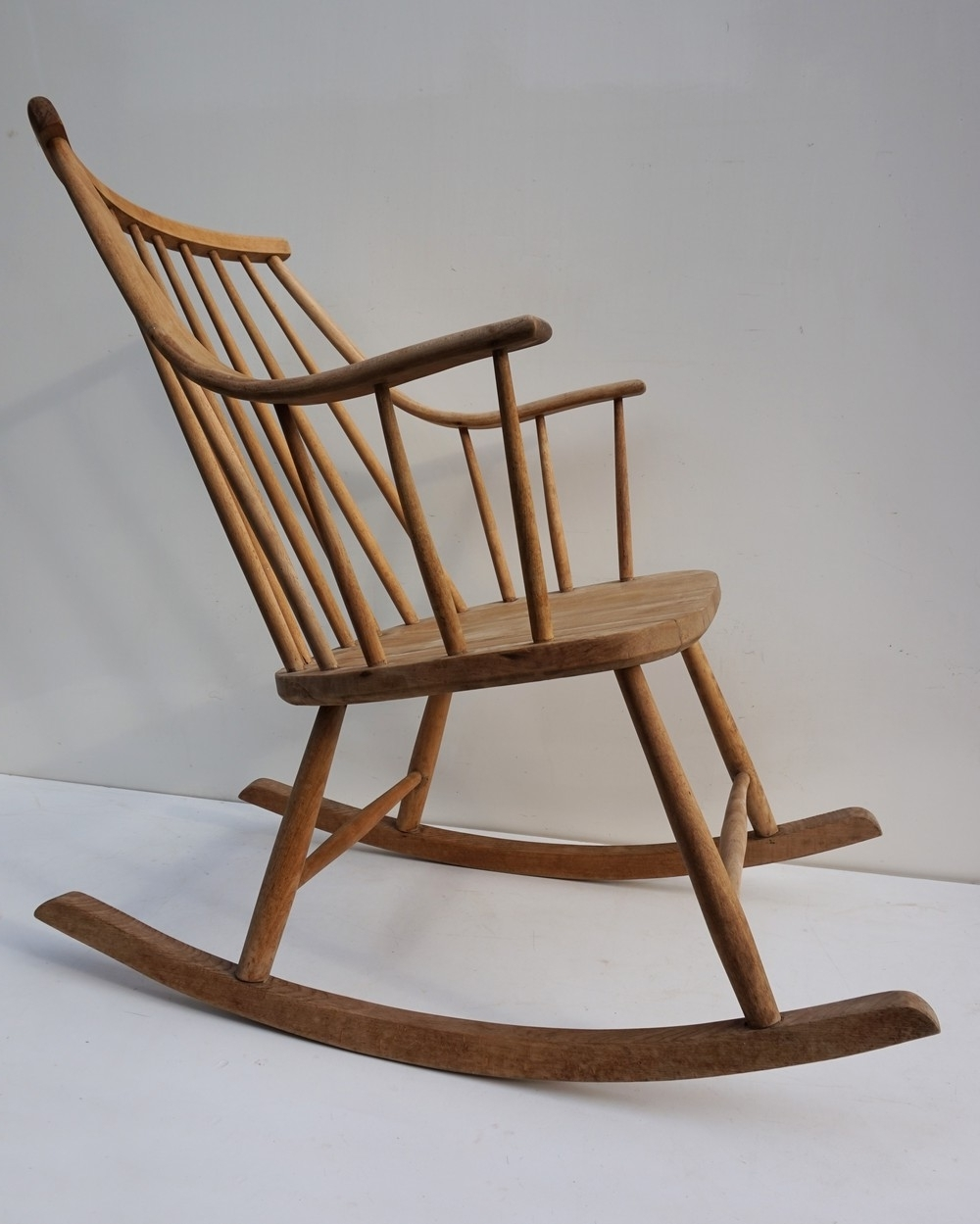 Most Up-to-Date Vintage Mid-Century Scandinavian Rocking Chair From The 1960S with regard to Retro Rocking Chairs