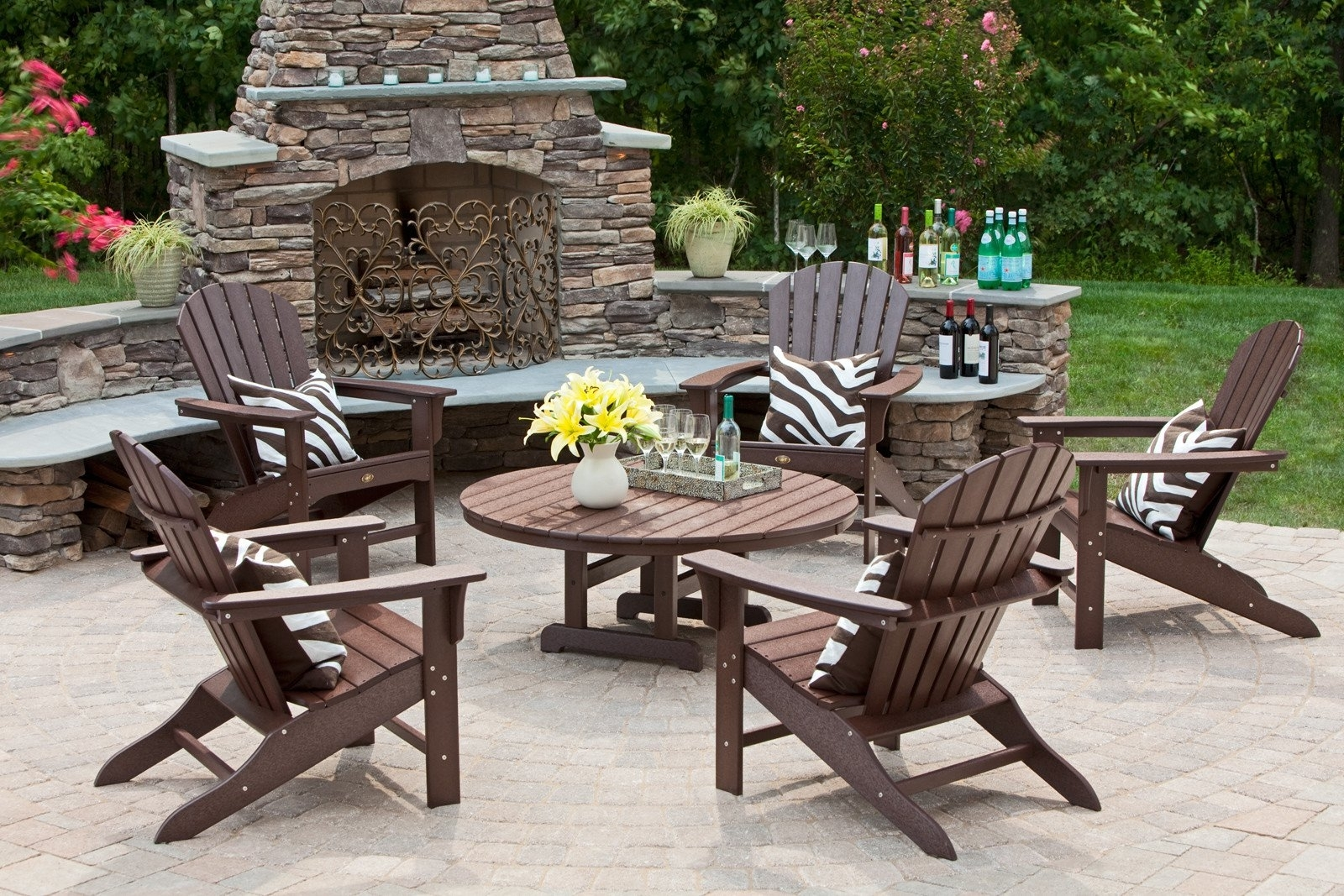 Newest Conversation Sets Hampton Bay Patio Chat Set Wood Patio Furniture With Wood Patio Furniture Conversation Sets (View 10 of 15)