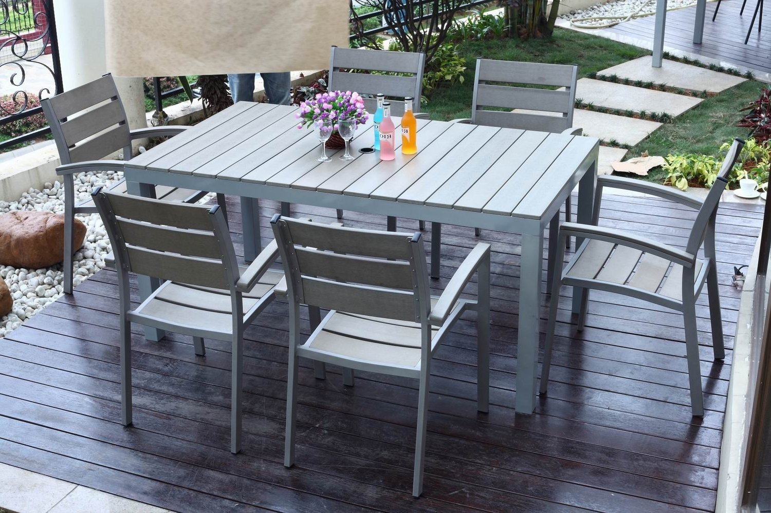 Newest Gray Patio Conversation Sets Inside Grey Patio Furniture Sets Elegant Outdoor Poly Wood Furniture Amish (View 10 of 15)