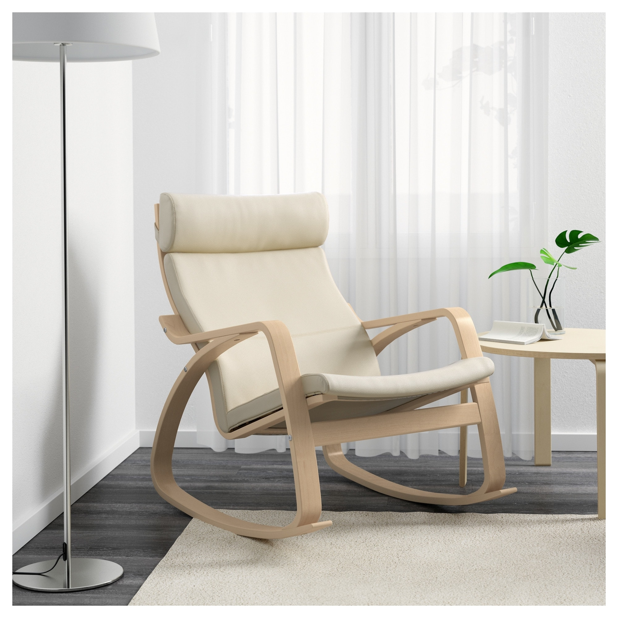 Newest Ikea Rocking Chairs pertaining to Poäng Rocking-Chair Birch Veneer/glose Eggshell - Ikea