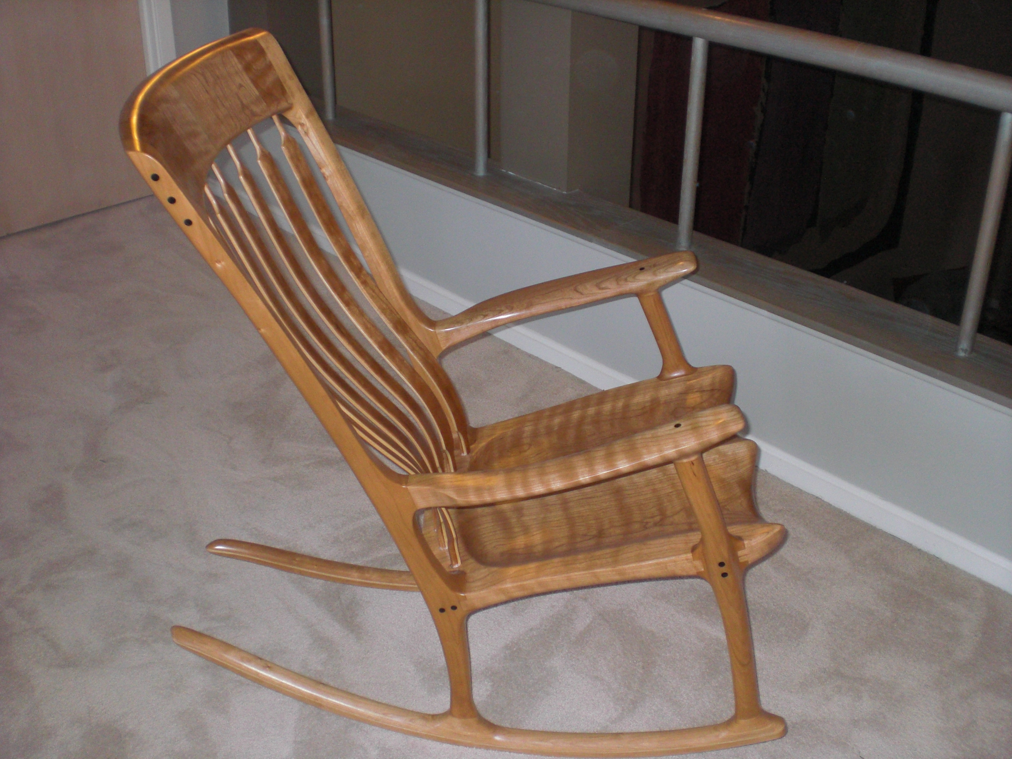 Newest Rocking Chairs For Adults Inside Gallery 1 – Domestic Cherry Rocking Chairs – Rocking Chairsr. C (View 6 of 15)