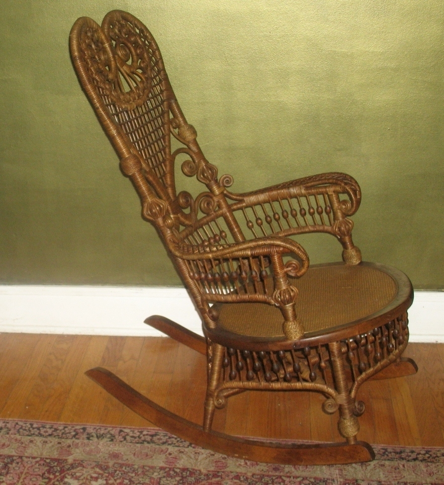 Newest Vintage Wicker Rocking Chairs Inside Vintage Wicker Rocking Chair – Rocking Chairs (View 14 of 15)