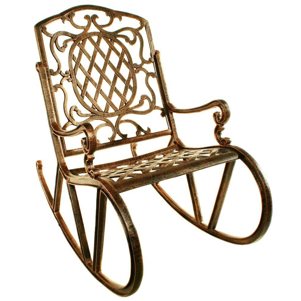 Oakland Living Mississippi Patio Rocking Chair 2114 Ab – The Home Depot Pertaining To Preferred Manhattan Patio Grey Rocking Chairs (View 9 of 15)