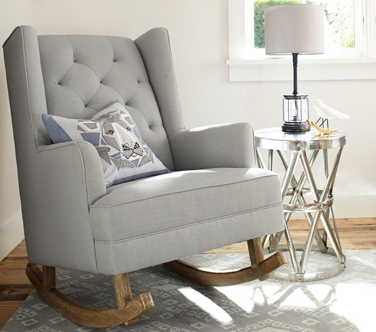 Ottomans : Navy Blue Glider And Ottoman Furniture Nursery Room Within Popular Rocking Chairs For Nursery (View 8 of 15)