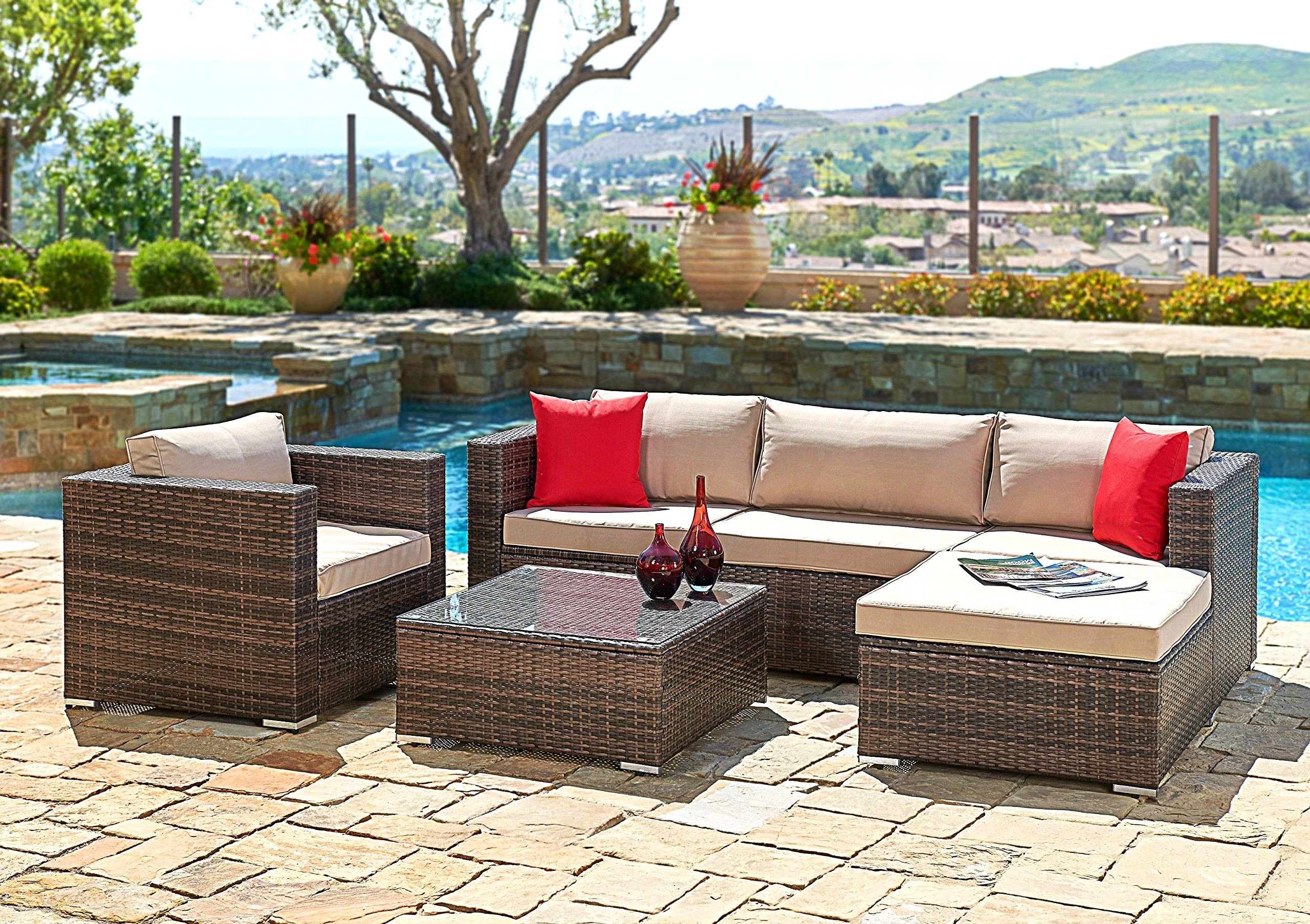 Outdoor Patio Furniture Edmonton Luxury Sectional Patio Furniture Within Fashionable Edmonton Patio Conversation Sets (View 6 of 15)