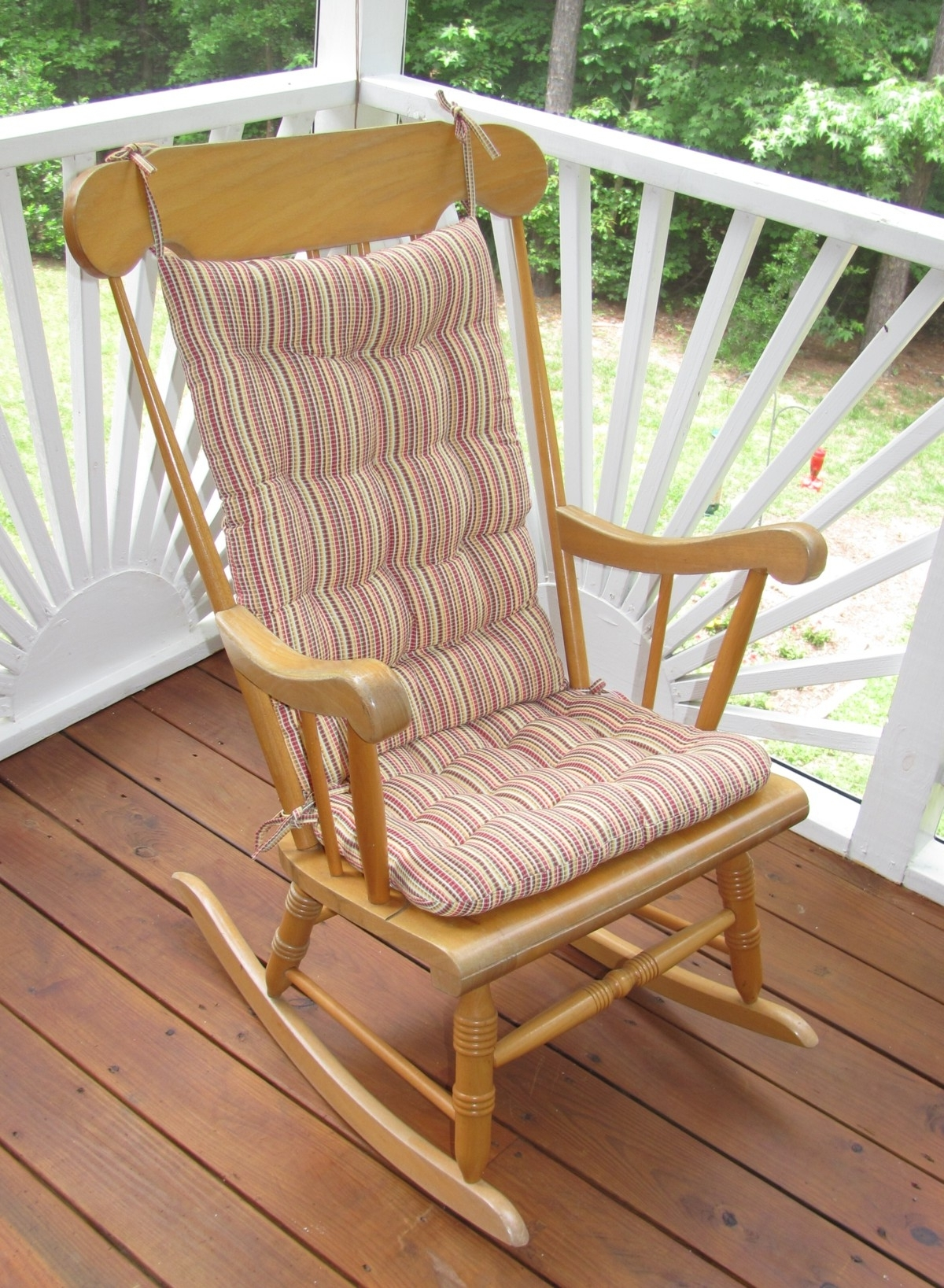 Outdoor Rocking Chair Cushions Type : Beautiful Outdoor Rocking In Famous Rocking Chairs With Cushions (View 6 of 15)