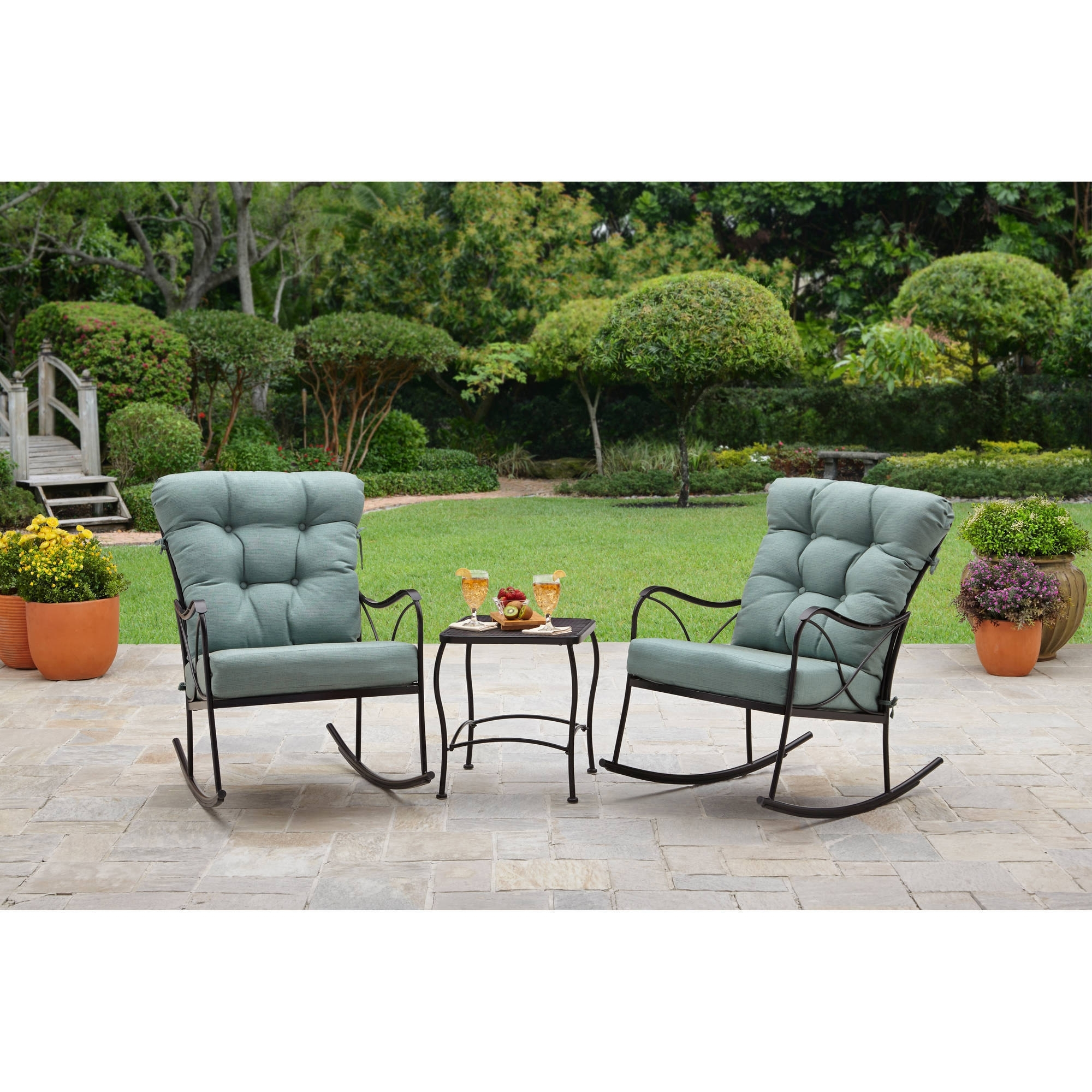 Outdoor Rocking Chairs With Table With Widely Used Better Homes And Gardens Seacliff Patio Furniture Collection (View 12 of 15)