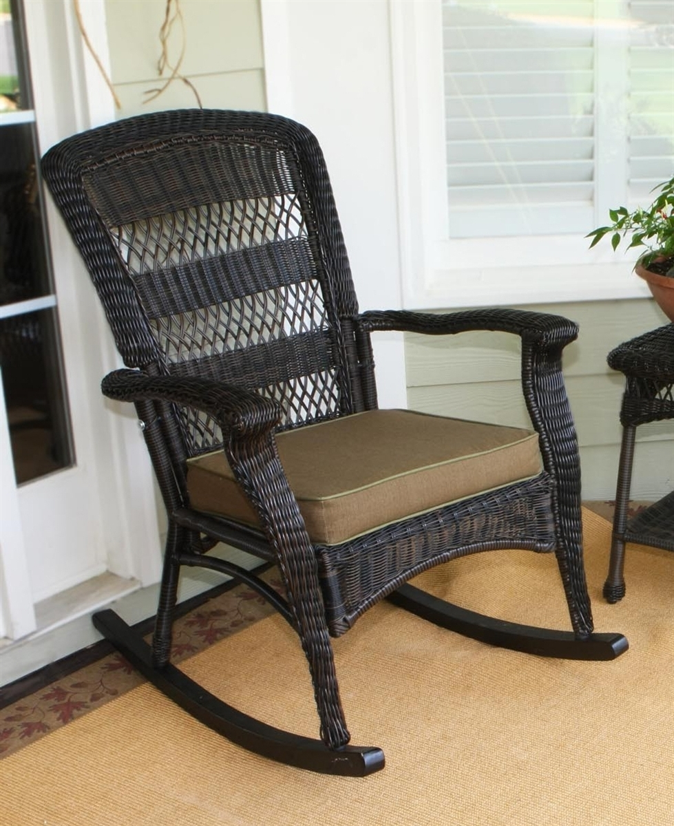 Outdoor Wicker Rockers Colorful Rocking Chair Resin Wicker (View 6 of 15)