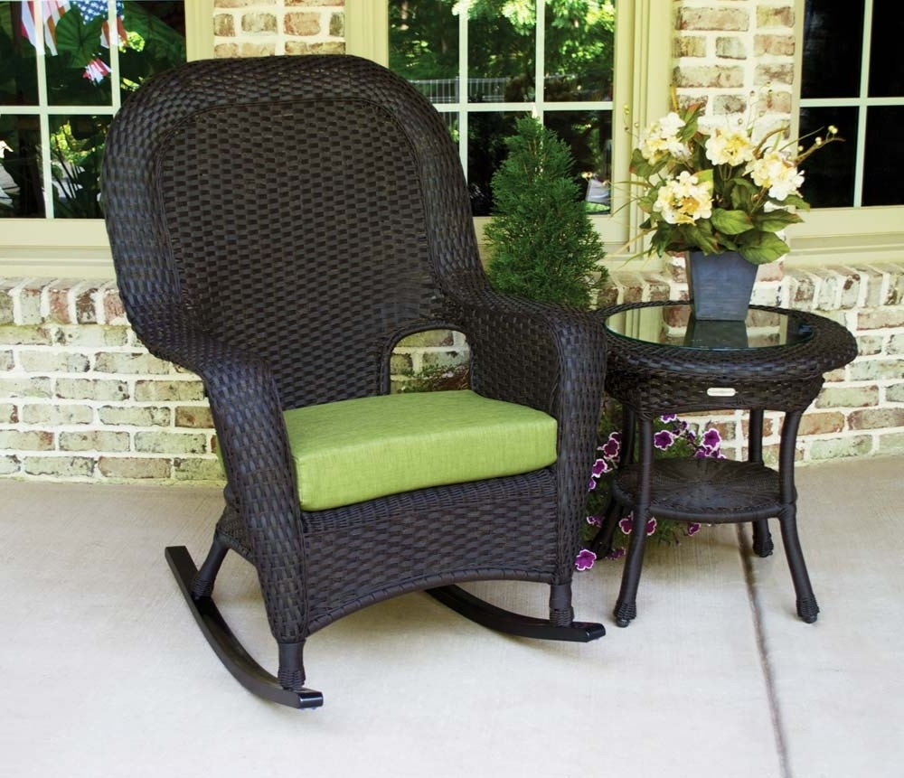 Outdoor Wicker Rocking Chairs Colors : Sathoud Decors – Cozy Outdoor Inside Favorite Wicker Rocking Chairs For Outdoors (View 7 of 15)