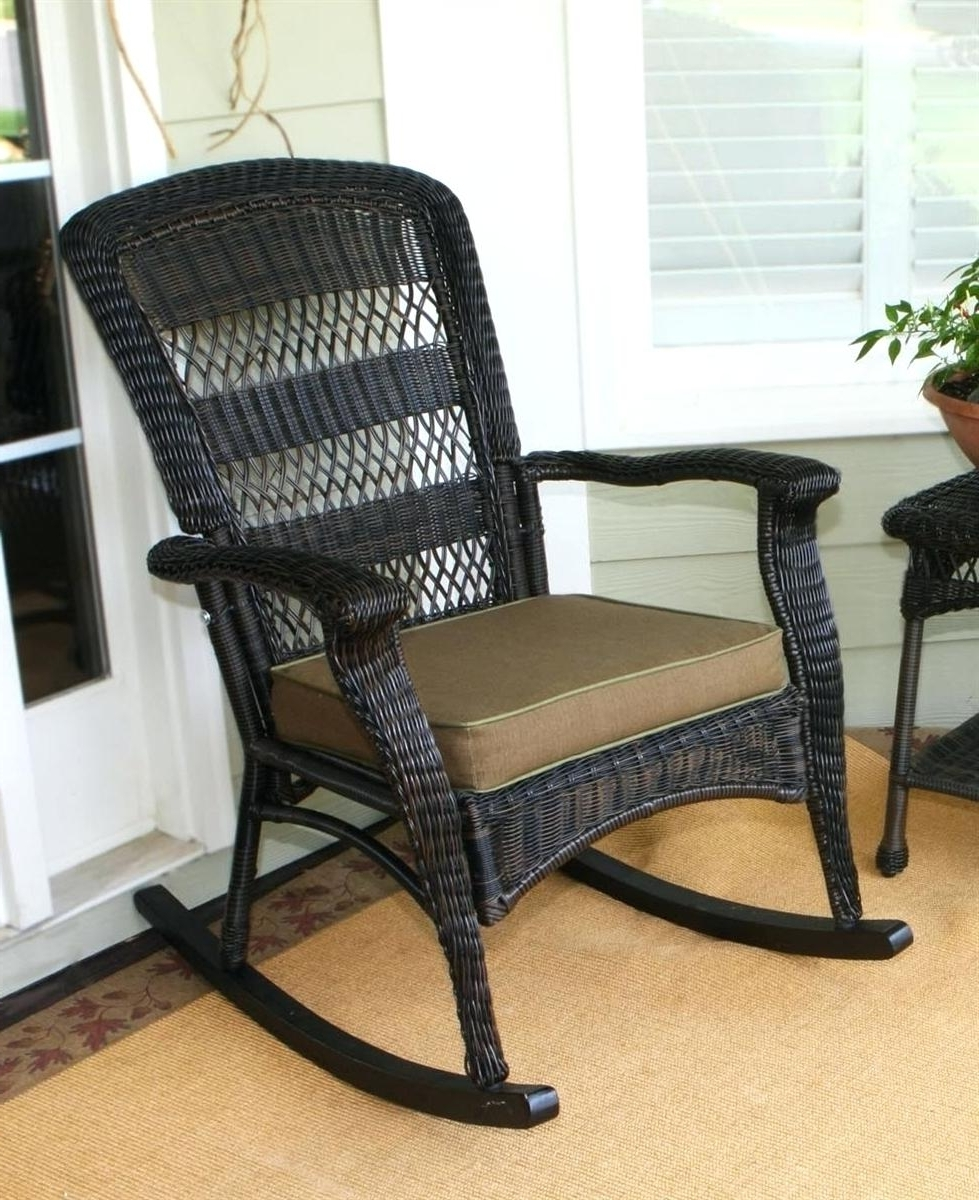 Outdoor Wicker Rocking Chairs Recliner Chair Interiors 21095Rc All With Recent Outdoor Wicker Rocking Chairs (View 11 of 15)