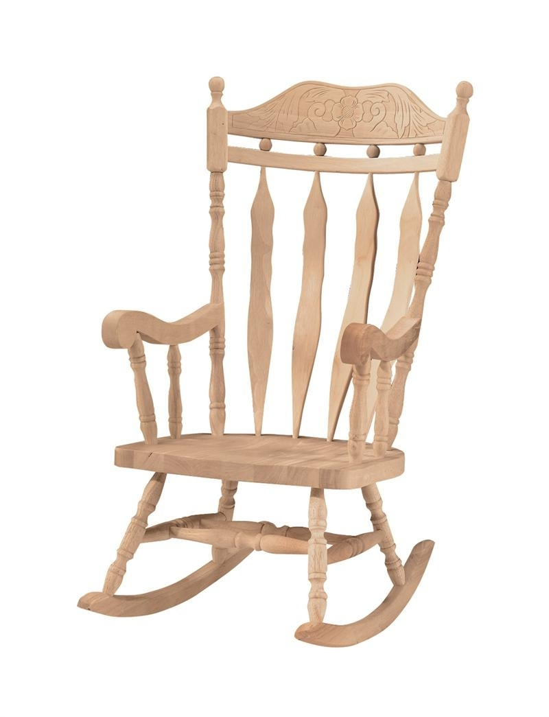 Outdoor Wooden Rocking Chairs Chair Kits Amazon High Back Inside Recent Rocking Chair Outdoor Wooden (View 7 of 15)