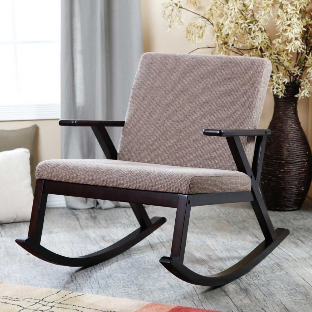 Padded Patio Rocking Chairs With 2018 Best Rocking Chair Outdoor : Sathoud Decors – Garden Rocking Chair (View 6 of 15)
