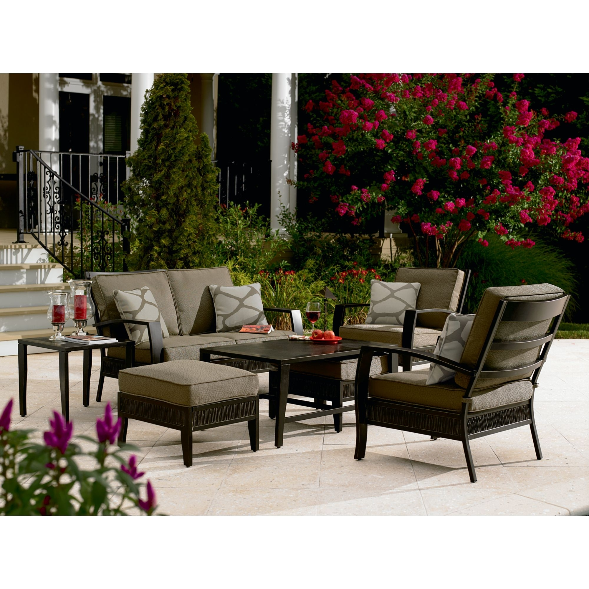 Patio Conversation Sets At Sears Intended For Well Known Patio Screen Cover Tags : Patio Conversation Sets With Fire Pit (View 9 of 15)