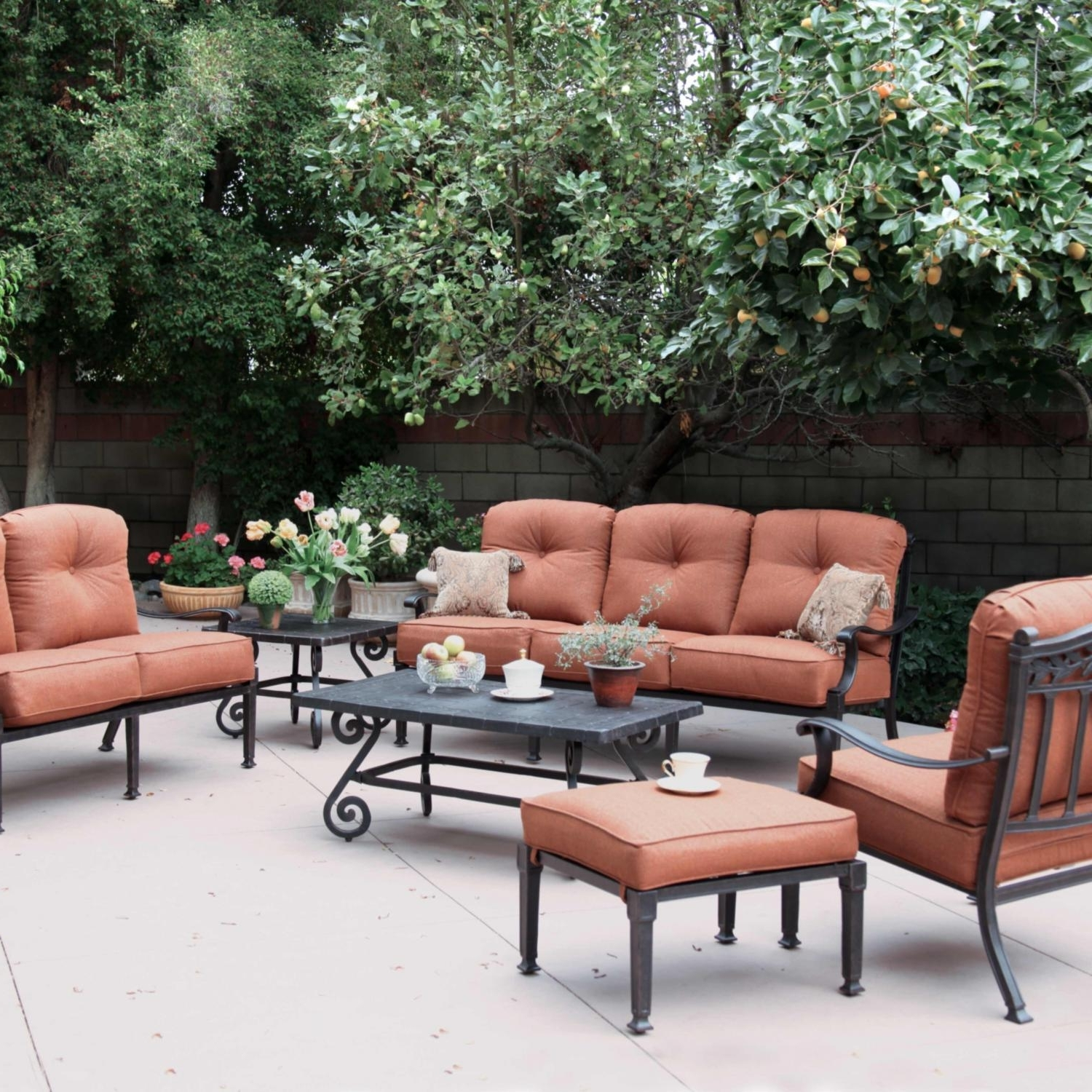 Patio Conversation Sets For Small Spaces Intended For Favorite Metal Patio Conversation Sets For Small Spaces Cast Aluminum — The (View 10 of 15)