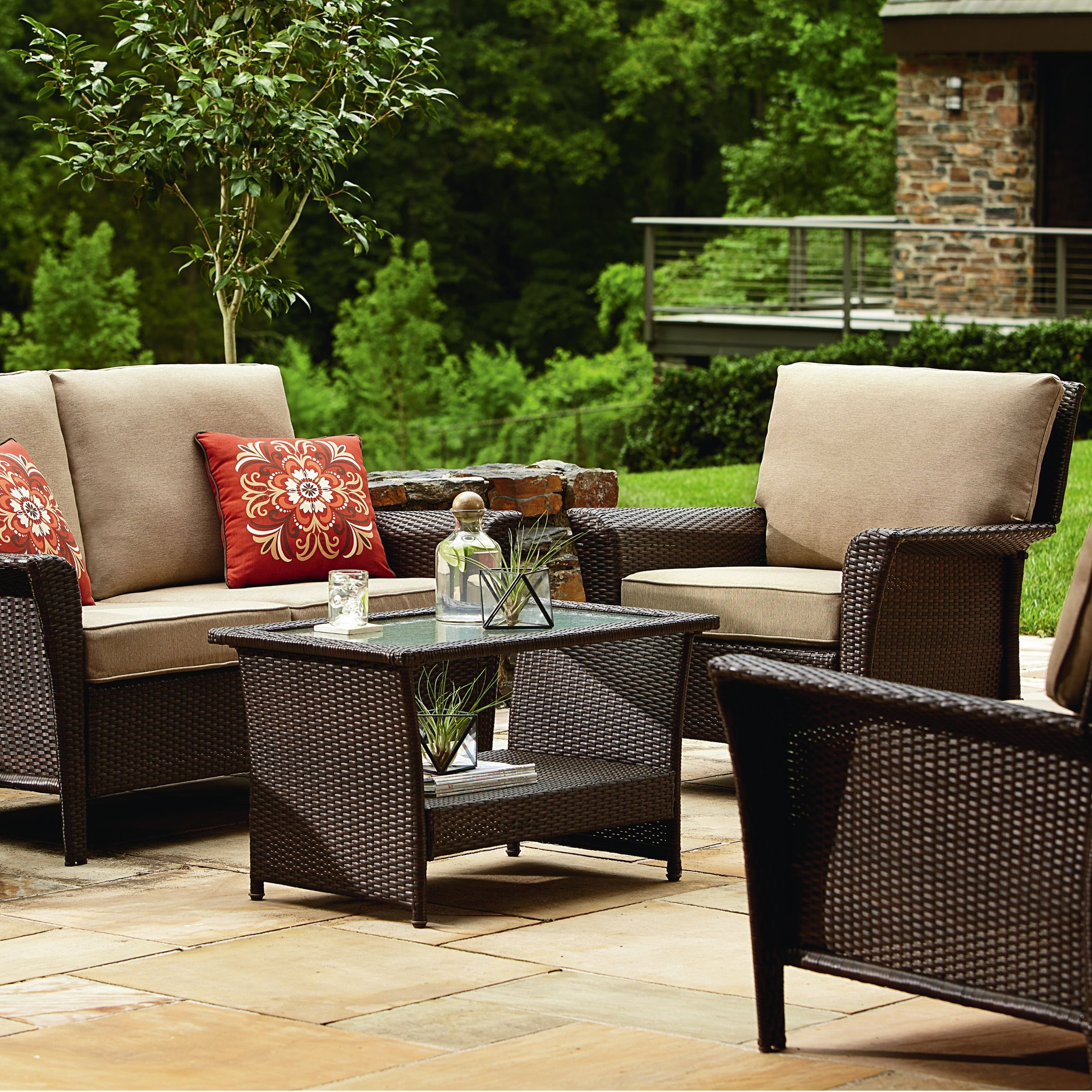 Patio Conversation Sets For Small Spaces Regarding 2018 Awesome Sears Patio Table View With Family Room Small Room Sears (View 12 of 15)