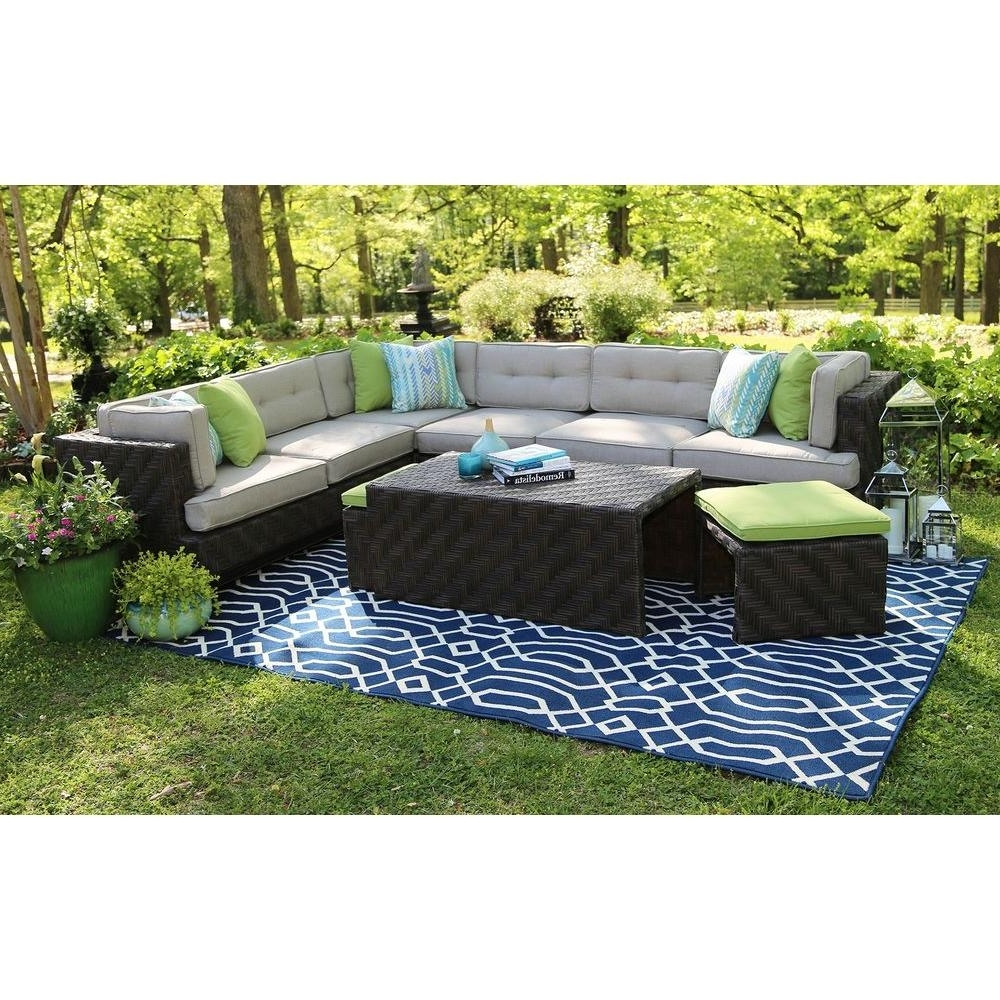 Patio Conversation Sets – Outdoor Lounge Furniture – The Home Depot Throughout Recent Patio Sectional Conversation Sets (View 9 of 15)