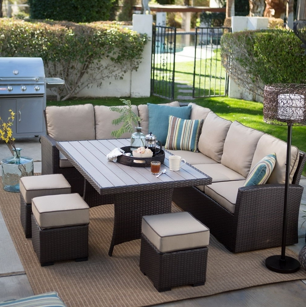 Patio Conversation Sets Pertaining To Preferred Patio Wicker Conversation Patio Set Patio Conversation Chairs (View 11 of 15)