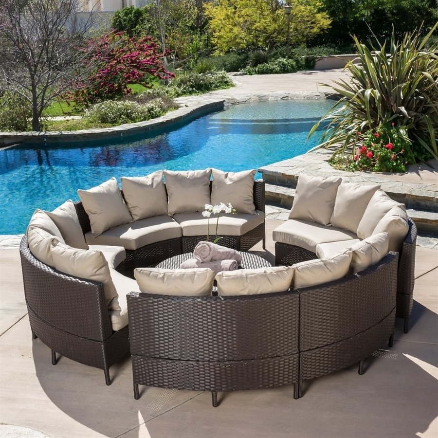 Patio Conversation Sets Throughout Most Recent Shop Best Selling Home Decor Newton 10 Piece Wicker Frame Patio (View 7 of 15)