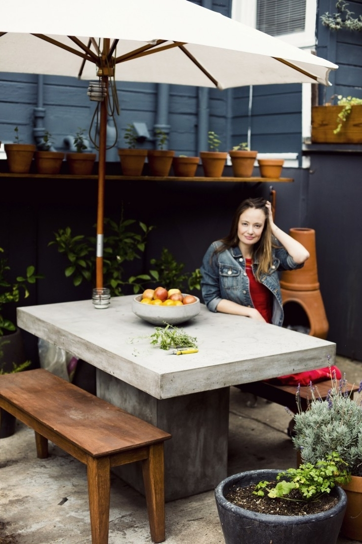 Patio Conversation Sets Under $400 Inside Most Recent 10 Easy Pieces: Concrete Outdoor Furniture – Gardenista (View 10 of 15)