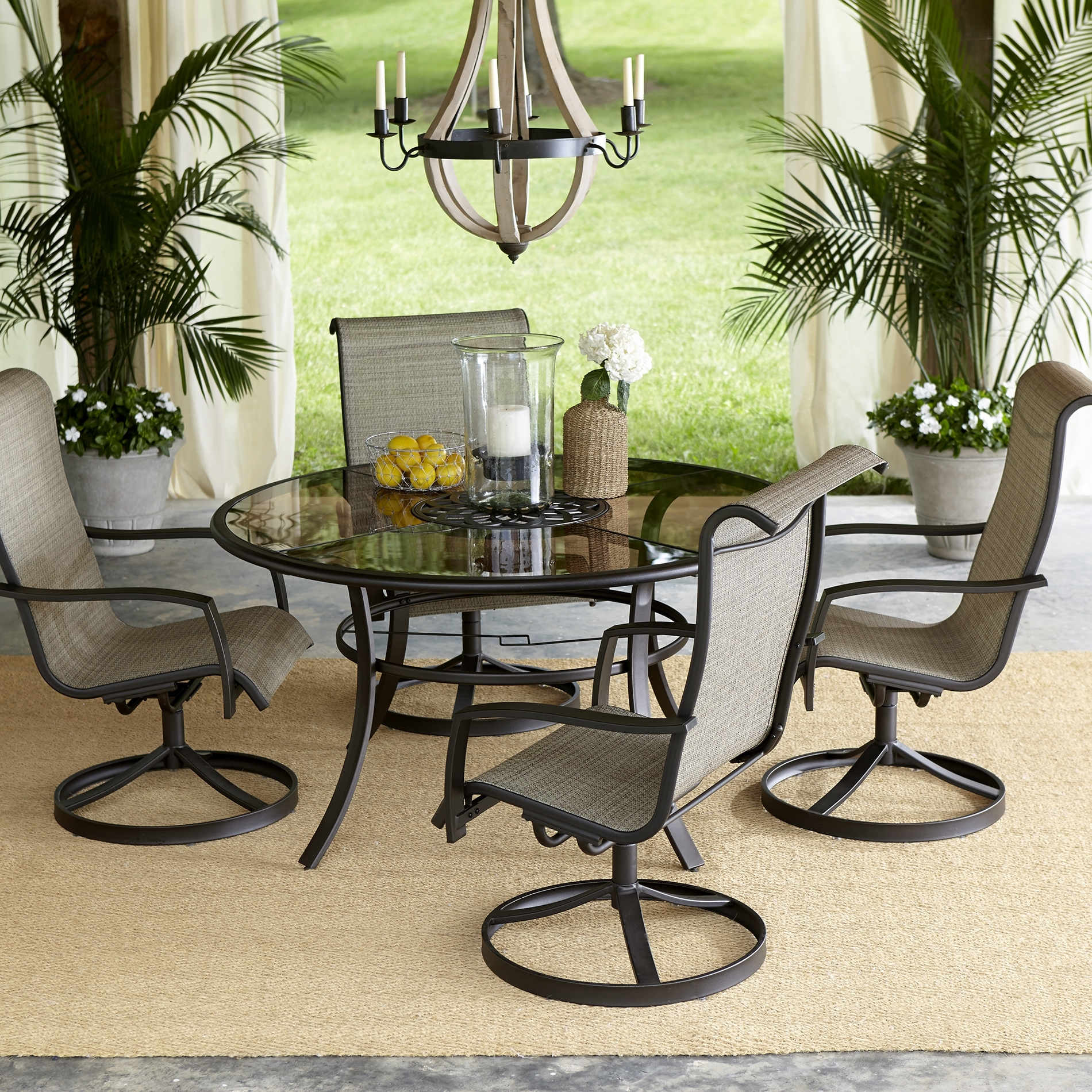 Patio Conversation Sets With Dining Table For Newest Patio Dining Sets Round Table Furniture Alluring Beautiful Tables (View 11 of 15)