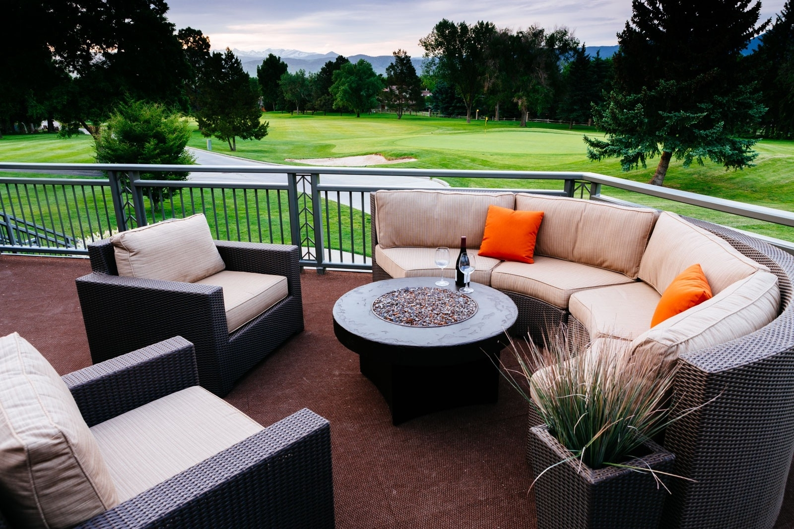 Patio Conversation Sets With Gas Fire Pit Intended For Famous Decoration : Outdoor Sectional With Fire Pit Propane Fire Pit Set (View 9 of 15)