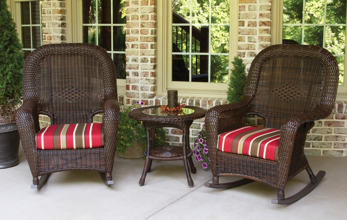 Patio Conversation Sets With Rockers With Regard To 2017 Lexington 3Pc Rocker & Table Set (2 Rockers, 1 Side Table) (View 15 of 15)