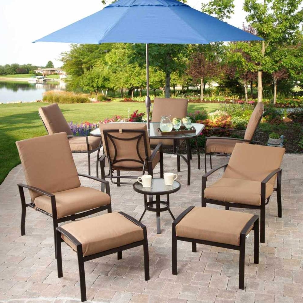Patio Conversation Sets With Umbrella For 2017 Modern Leaders Outdoor Furniture (View 8 of 15)