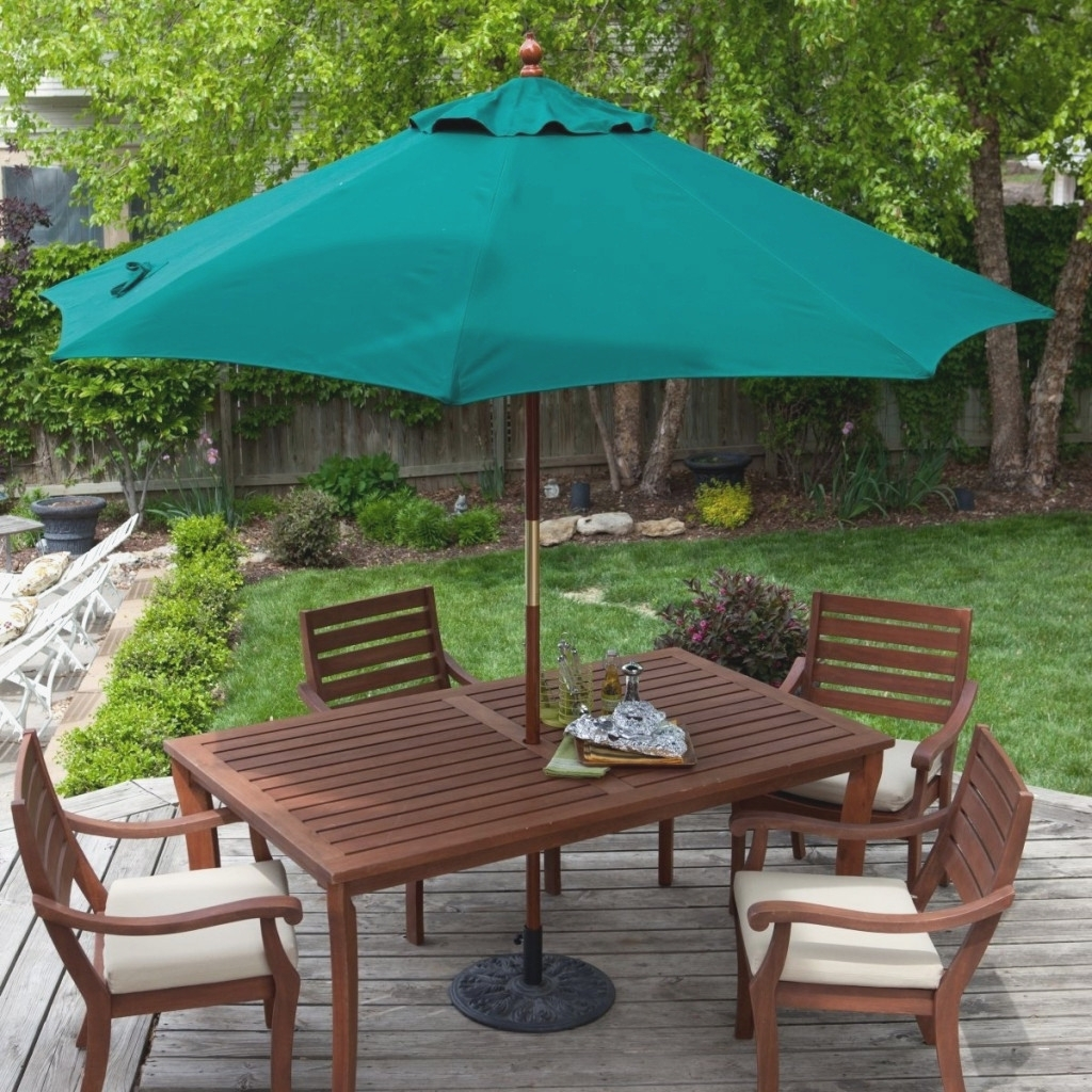 Patio Conversation Sets With Umbrella Regarding Latest Brilliant Outdoor Patio Set With Umbrella – Bomelconsult (View 10 of 15)