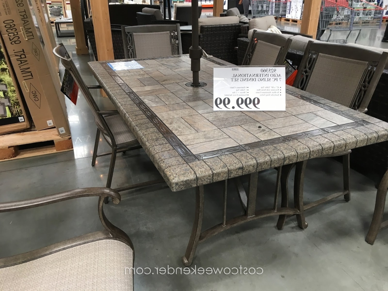 Patio Dining Sets Costco Classy Patio Ideas Aluminum Patio Furniture With Regard To Widely Used Costco Patio Conversation Sets (View 13 of 15)