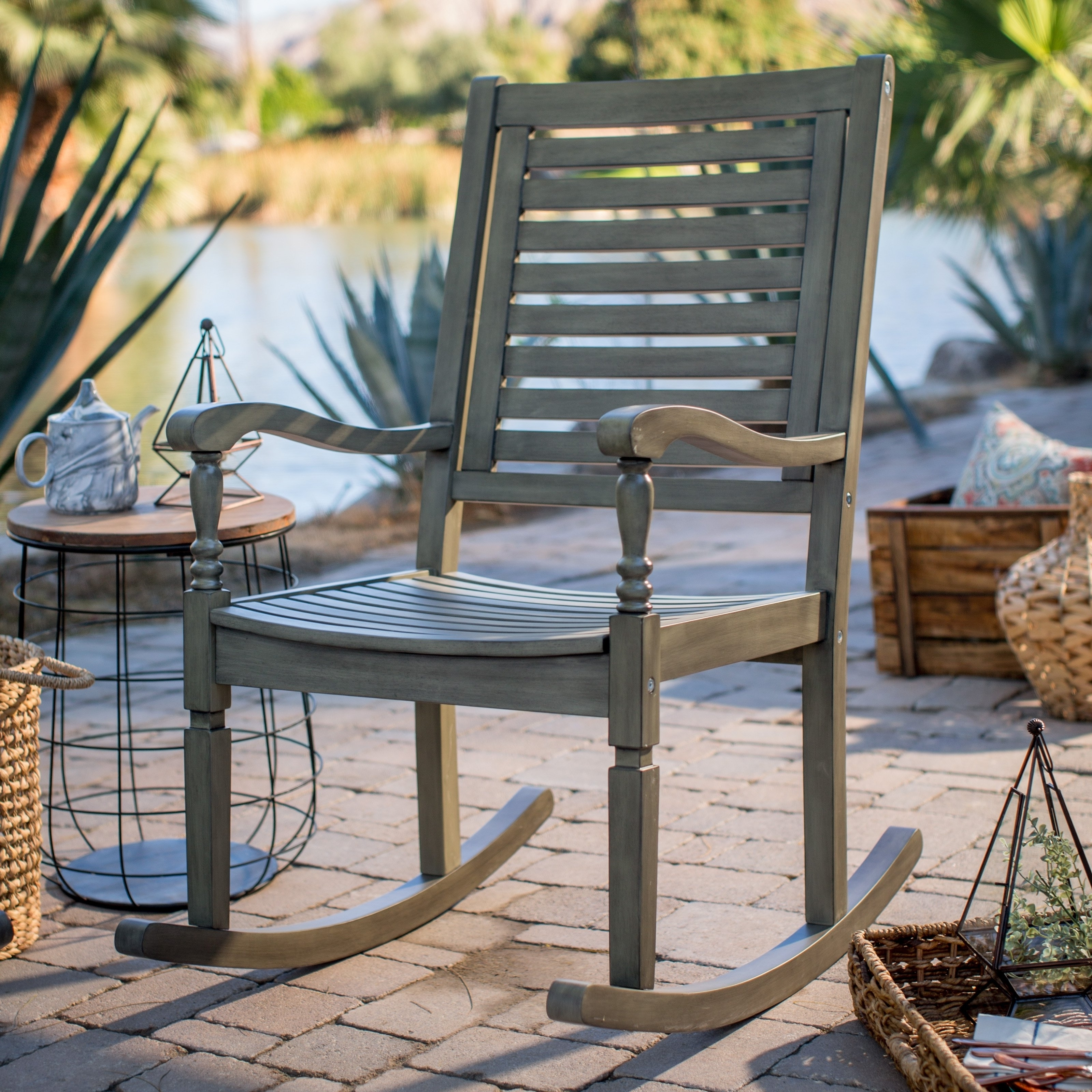 Patio & Garden : Outdoor Rocking Chairs On Hayneedle Top Porch With Most Up To Date Inexpensive Patio Rocking Chairs (View 11 of 15)