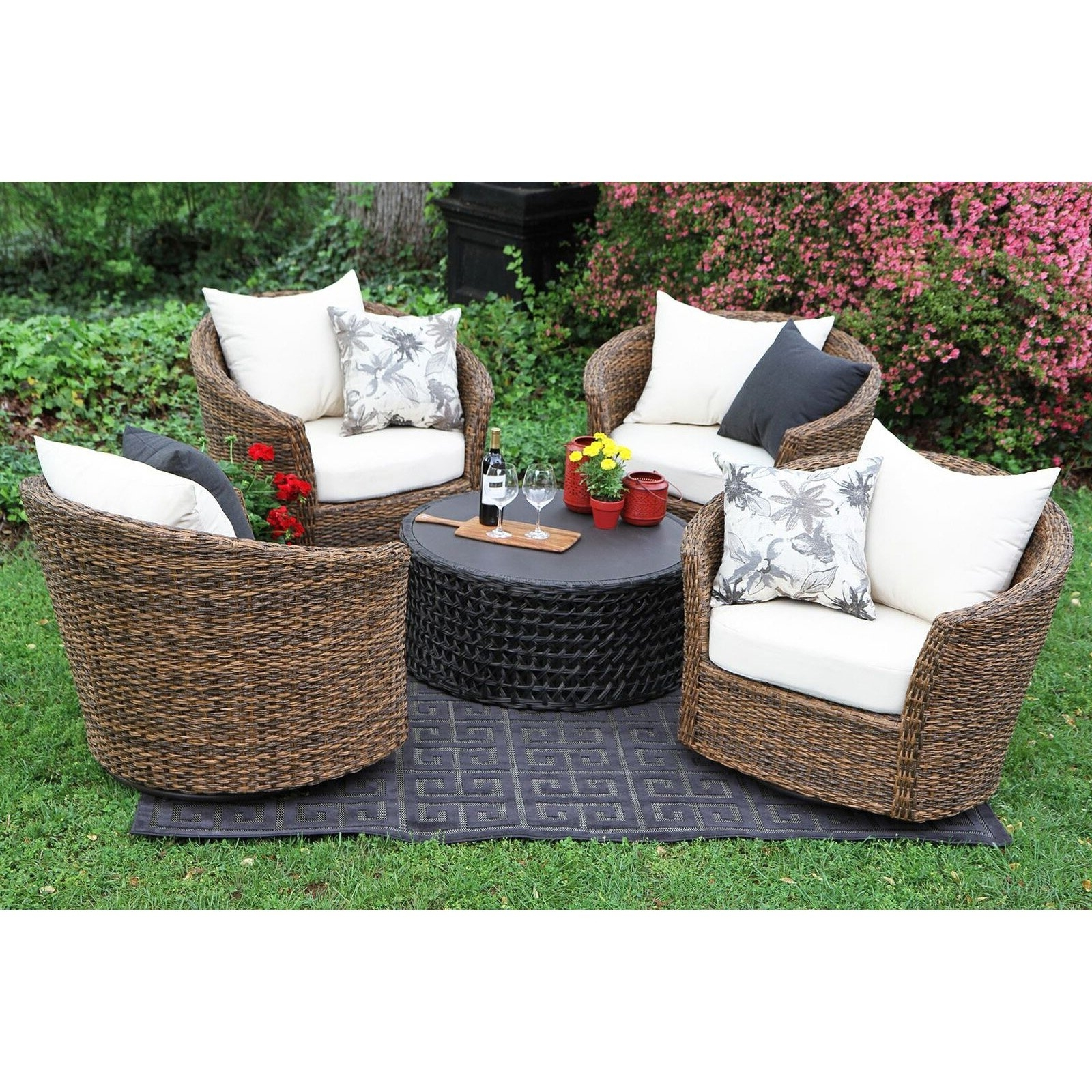 Patio : Kroger Patio Furniture Kroger Outdoor Furniture Pertaining To Latest Patio Conversation Sets With Swivel Chairs (View 2 of 15)