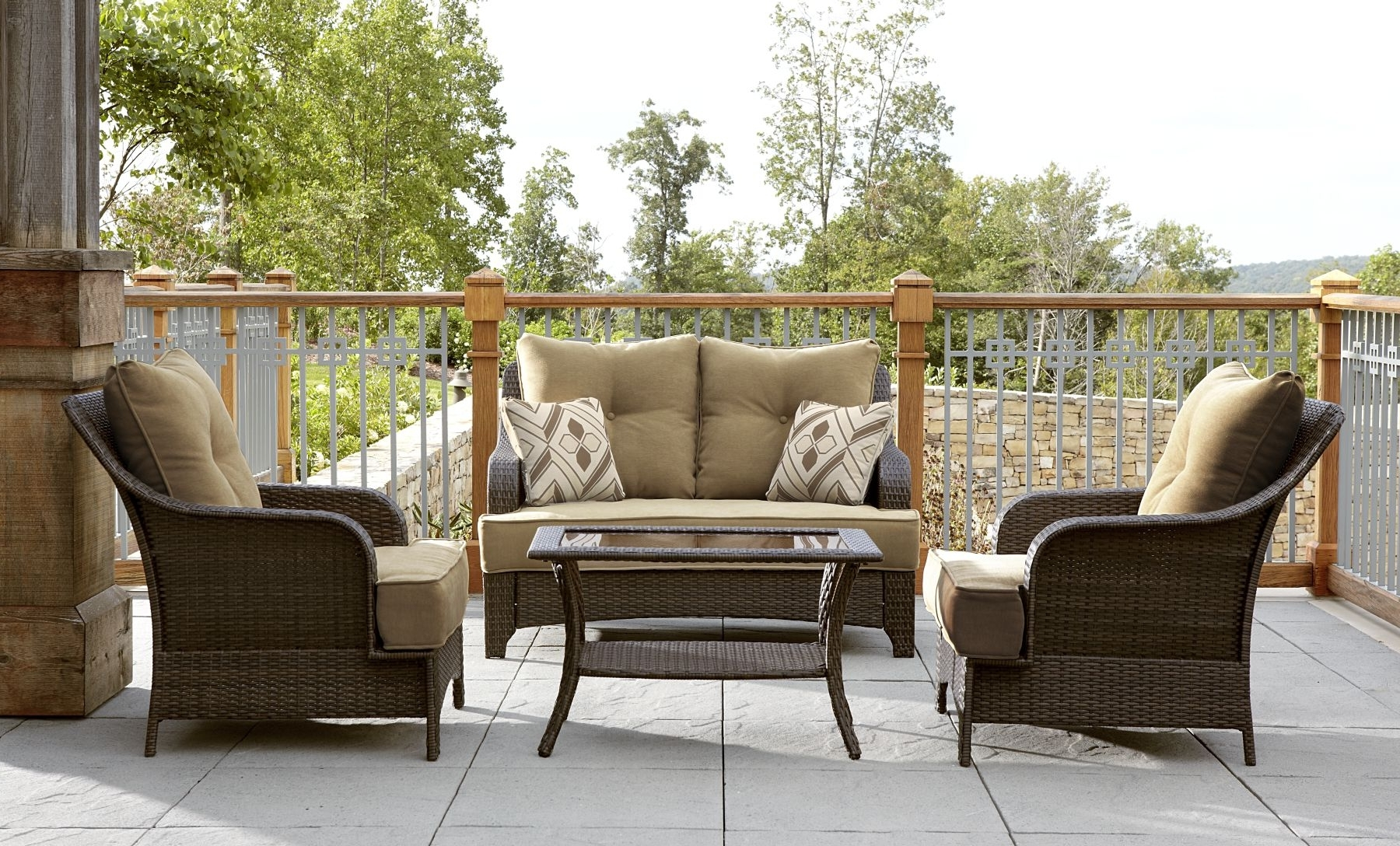 Patio : Lazy Boy Patio Furniture Cushion Replacements Covers Within Well Known Lazy Boy Patio Conversation Sets (View 5 of 15)