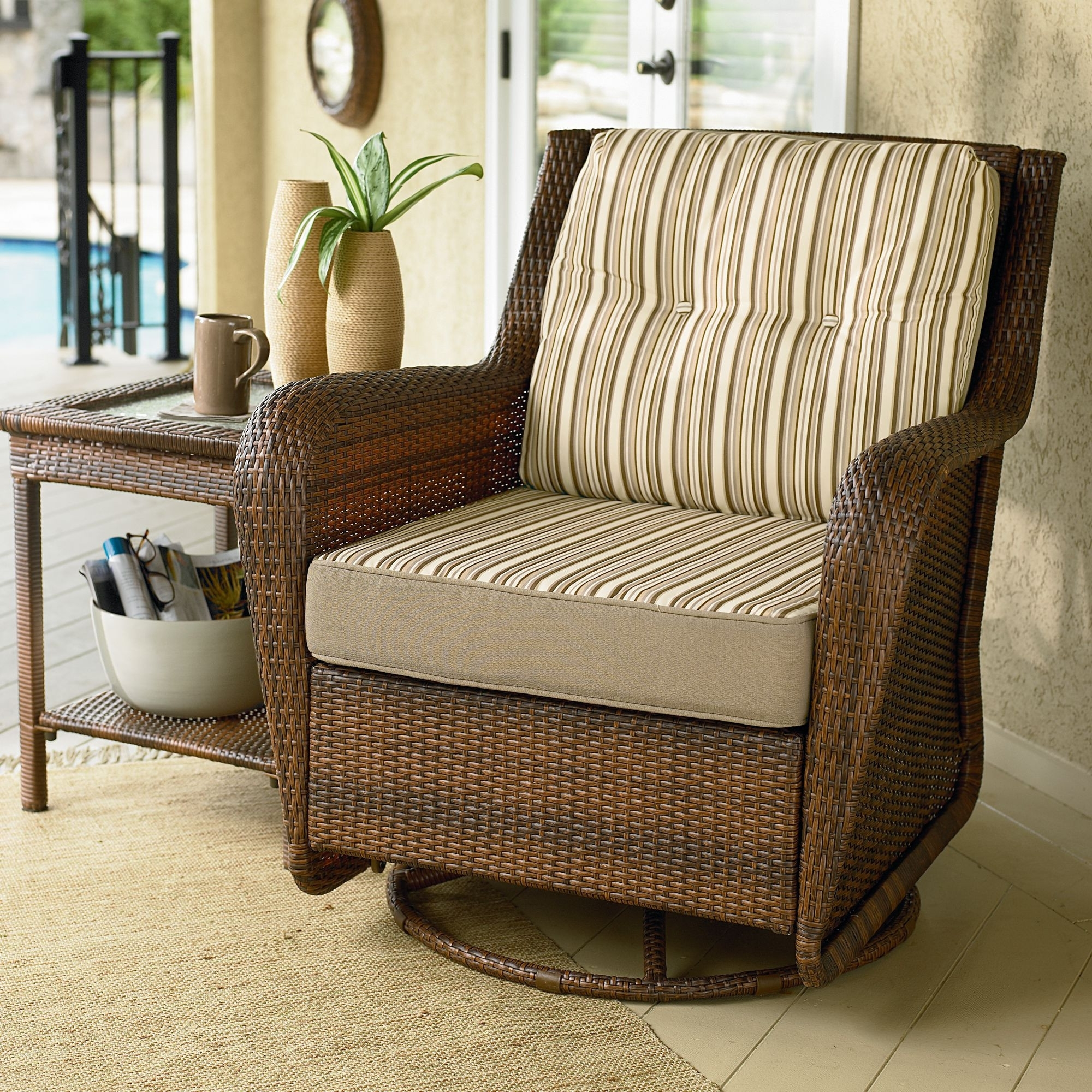 Patio Rocking Chairs And Gliders Regarding Latest Glider Chair For Patio – Decco.voiceoverservices (View 4 of 15)