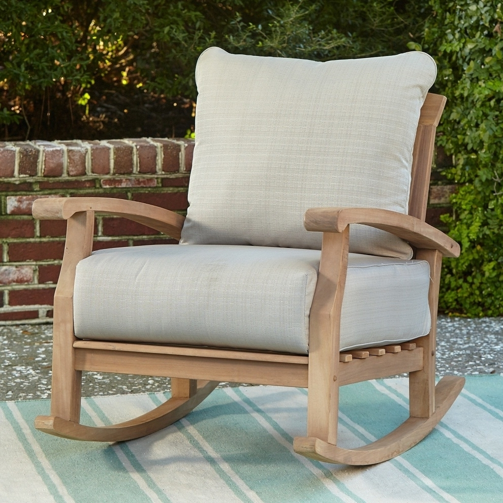 Patio Rocking Chairs Designs Ideas — Auxlilasresto Intended For 2018 Outdoor Patio Rocking Chairs (View 15 of 15)