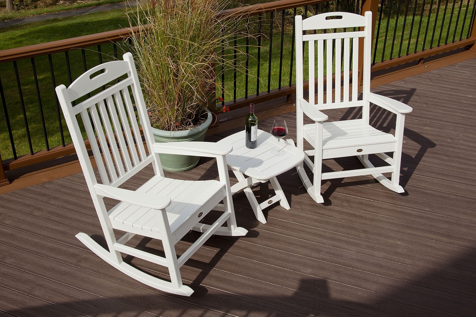 Patio Rocking Chairs Sets With Regard To Most Popular Yacht Club Rocking Chair (View 7 of 15)