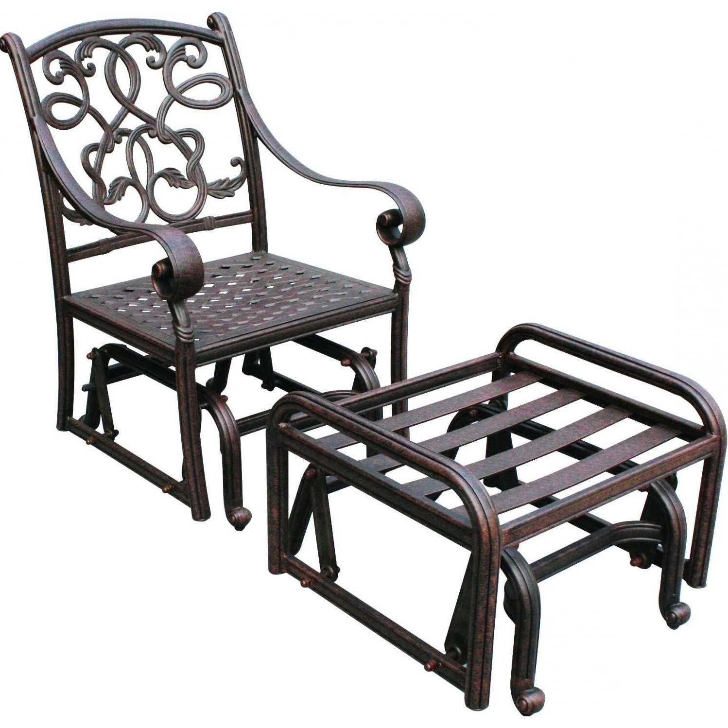 Patio Rocking Chairs With Ottoman With Best And Newest Chair : Rocker Plans Wicker Resin Lounge Sling Patio Furniture (View 13 of 15)