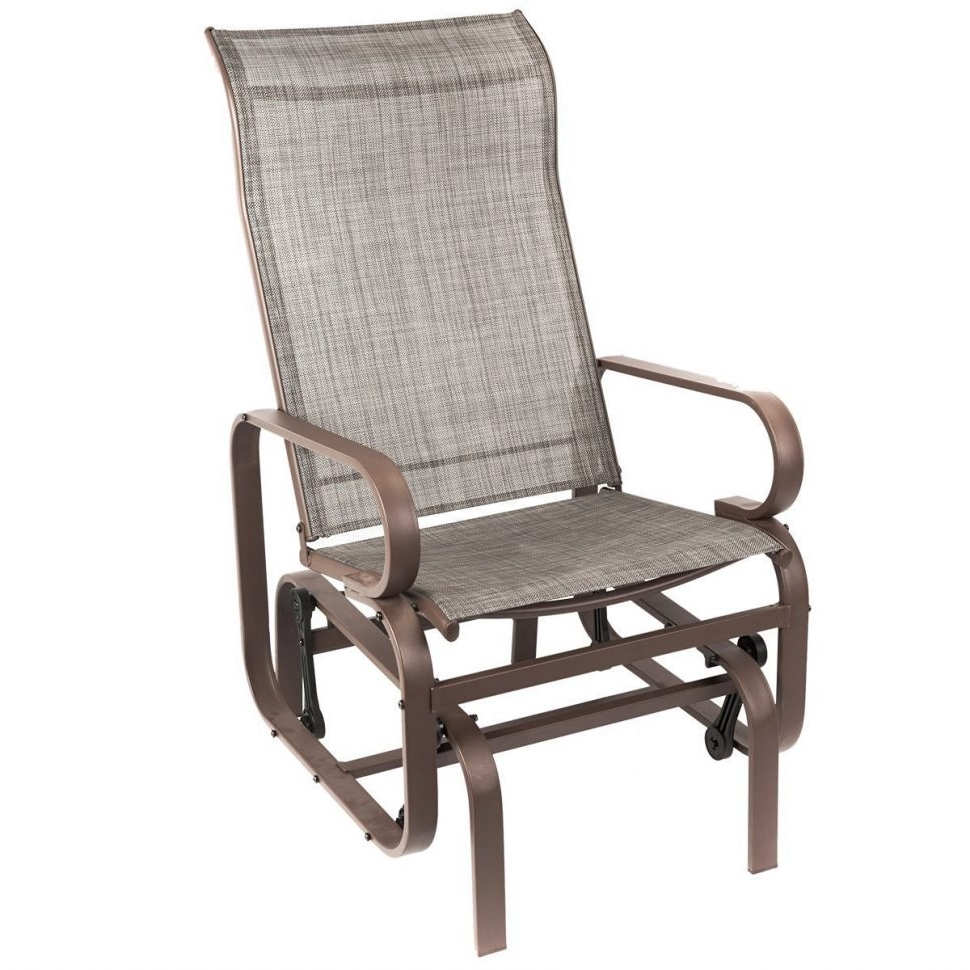 Patio Rocking Chairs With Regard To Recent Livingroom : Com Naturefun Outdoor Patio Rocker Chair Balcony Glider (View 8 of 15)