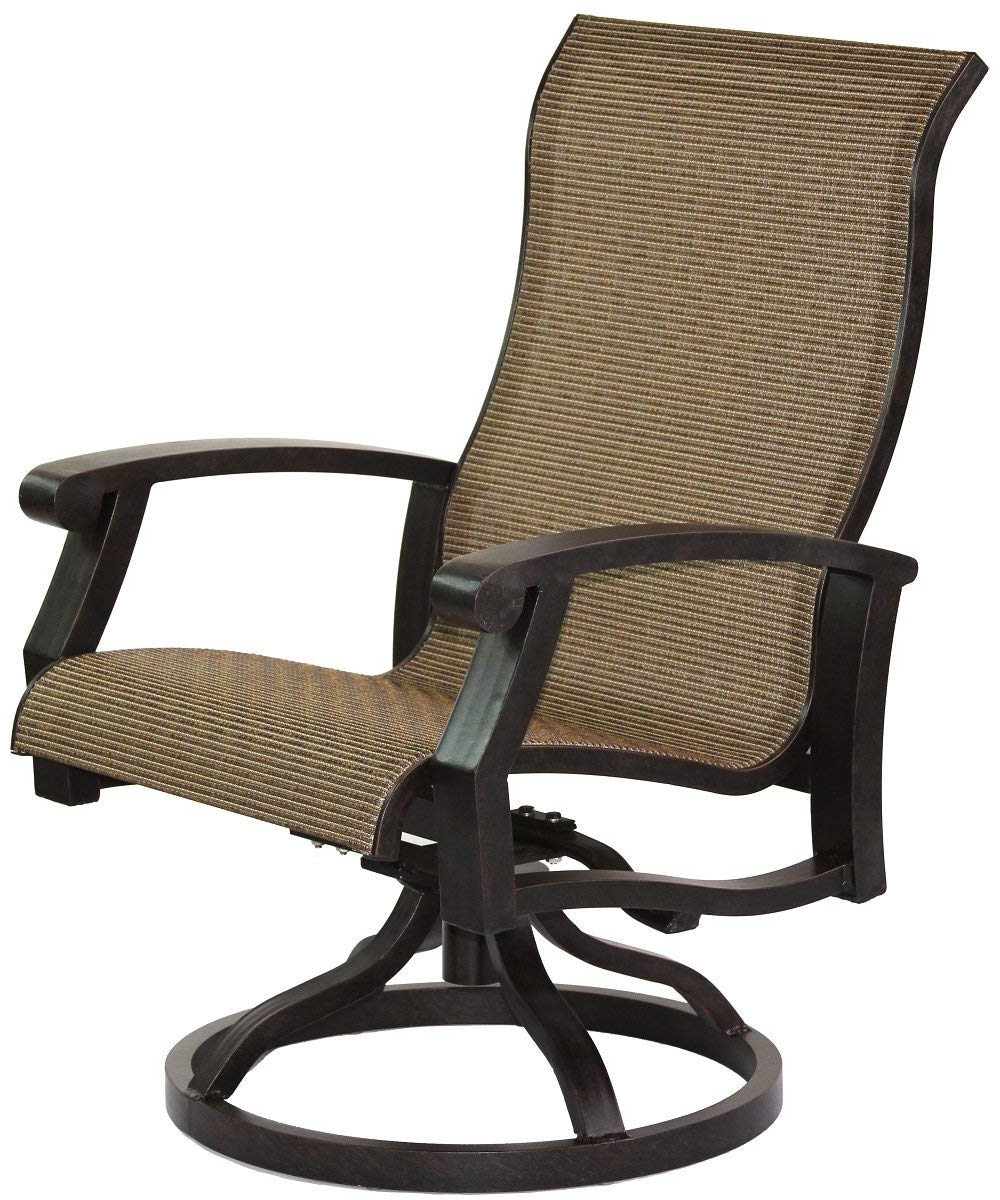 Patio Sling Rocking Chairs Throughout Favorite Amazon : Heritage Outdoor Living Cast Aluminum Barbados Sling (View 14 of 15)