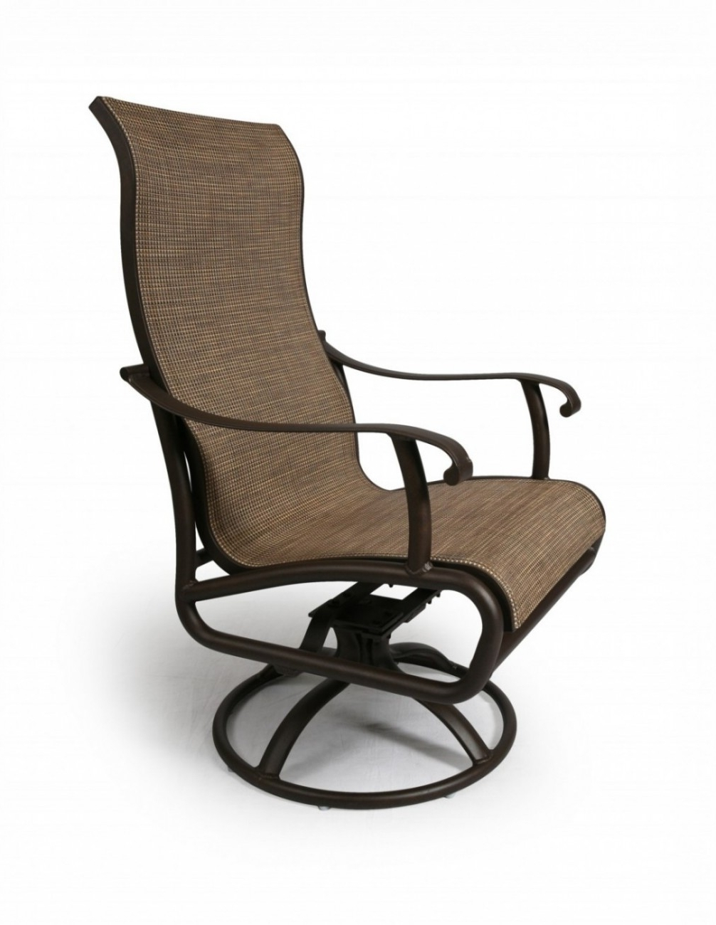Patio Sling Rocking Chairs Throughout Most Up To Date Scarsdale Sling Swivel Rocker (View 11 of 15)