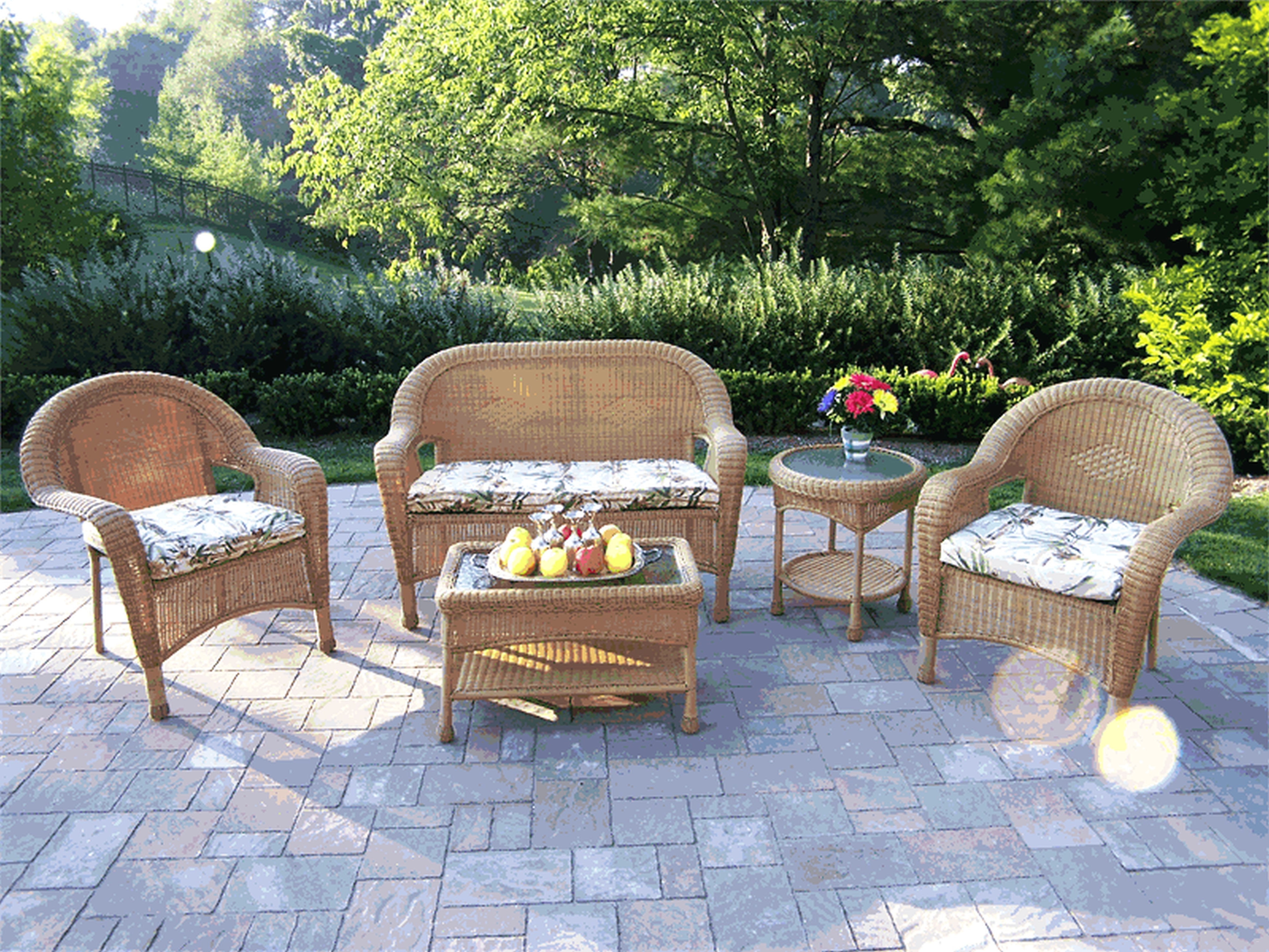 Patio : Small Outdoor Patio Bench Awesome Beautiful Concrete Patio Within Widely Used Inexpensive Patio Conversation Sets (View 12 of 15)
