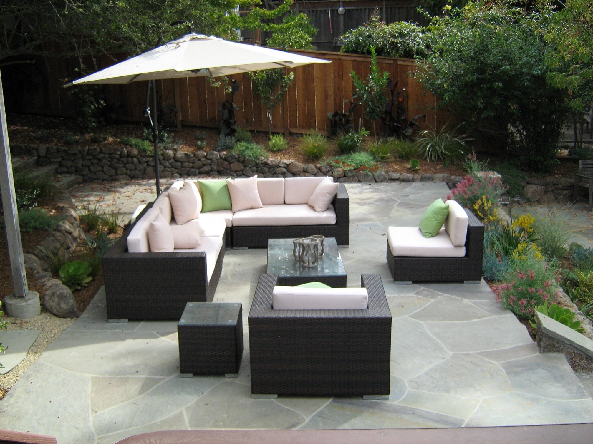 Patio : Small Patio Furniture Awesome Chair Fabulous Aluminum Patio Throughout Latest Patio Conversation Sets With Umbrella (View 8 of 15)