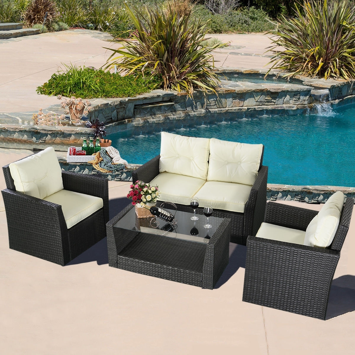 Pier One Patio Conversation Sets Regarding Famous Gray Wicker Patio Furniture Simple Outdoor Pier One Wicker Porch (View 11 of 15)