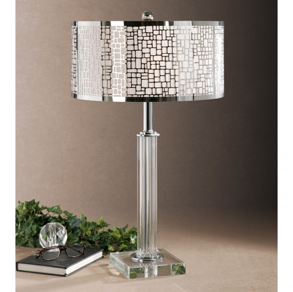 Pink Table Lamps For Living Room Throughout Most Current Top 58 Superb Vintage Crystal Table Lamps Floating Nightstand Pink (View 12 of 15)