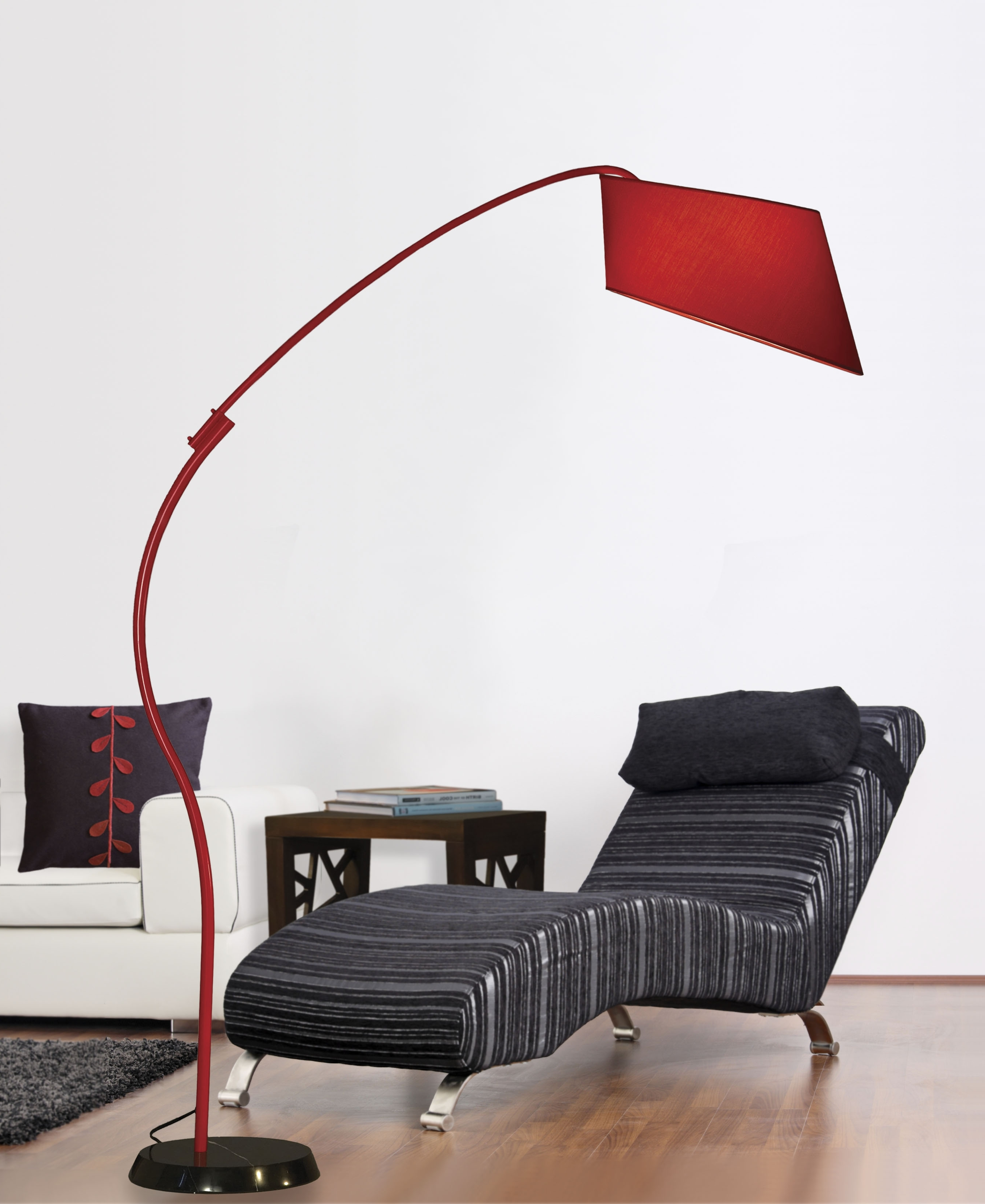 Pleasant Red Arc Floor Lamp Set For Bathroom Accessories Charming With Most Recently Released Red Living Room Table Lamps (View 6 of 15)