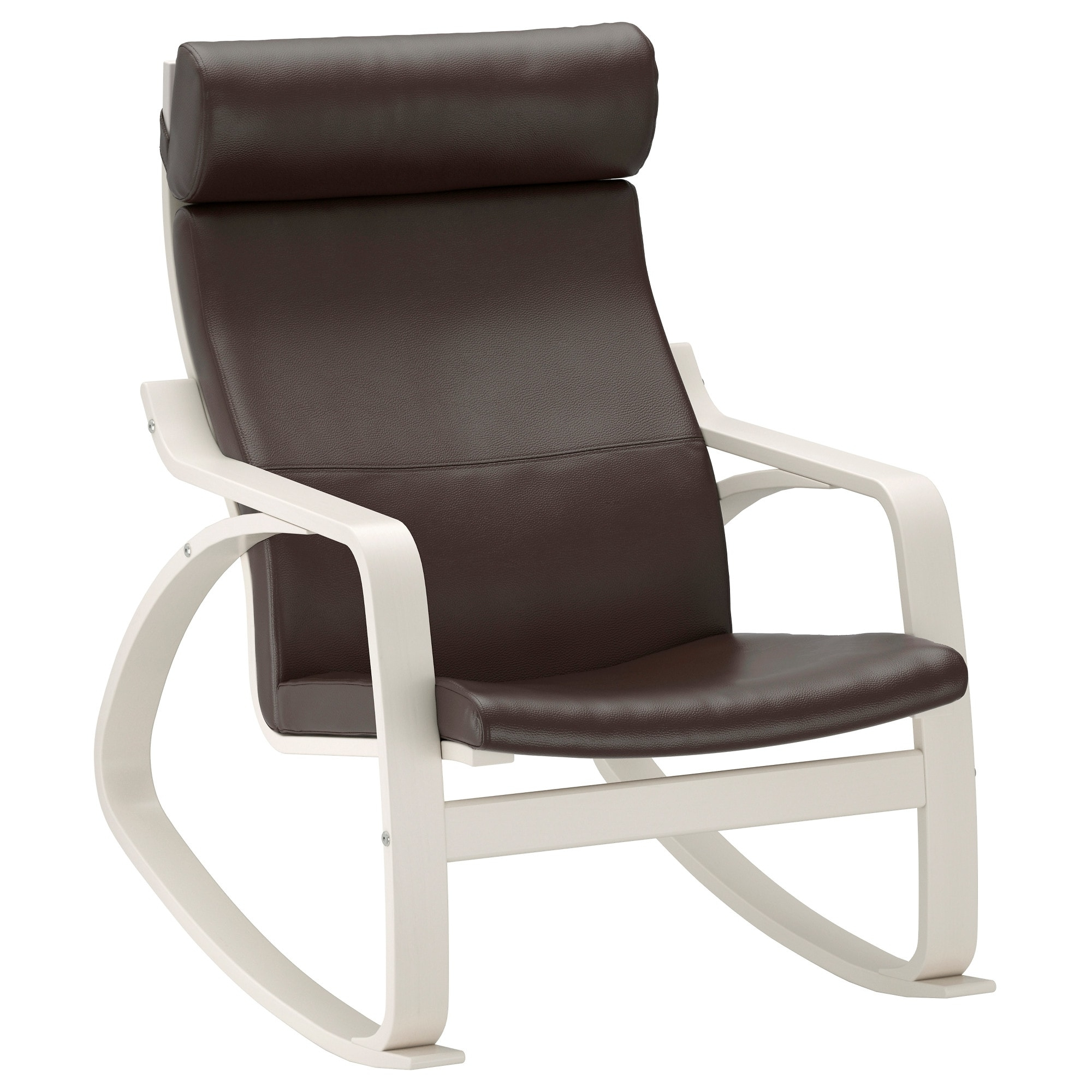 Poäng Rocking Chair White/glose Dark Brown – Ikea In Preferred Ikea Rocking Chairs (View 11 of 15)