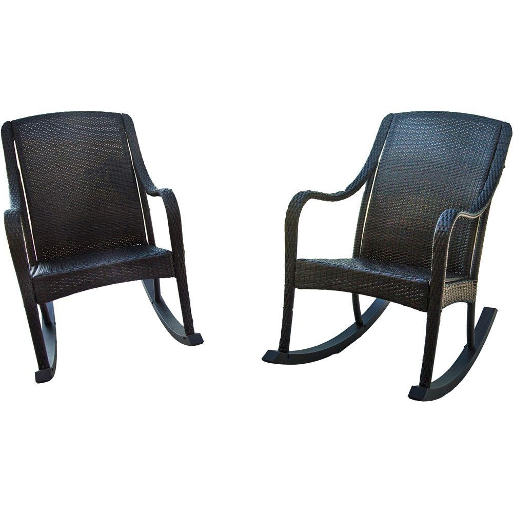 Popular Hanover Orleans 2 Piece Rocking Patio Chair Set Orleans2Pcrkr – The With Wicker Rocking Chairs Sets (View 7 of 15)