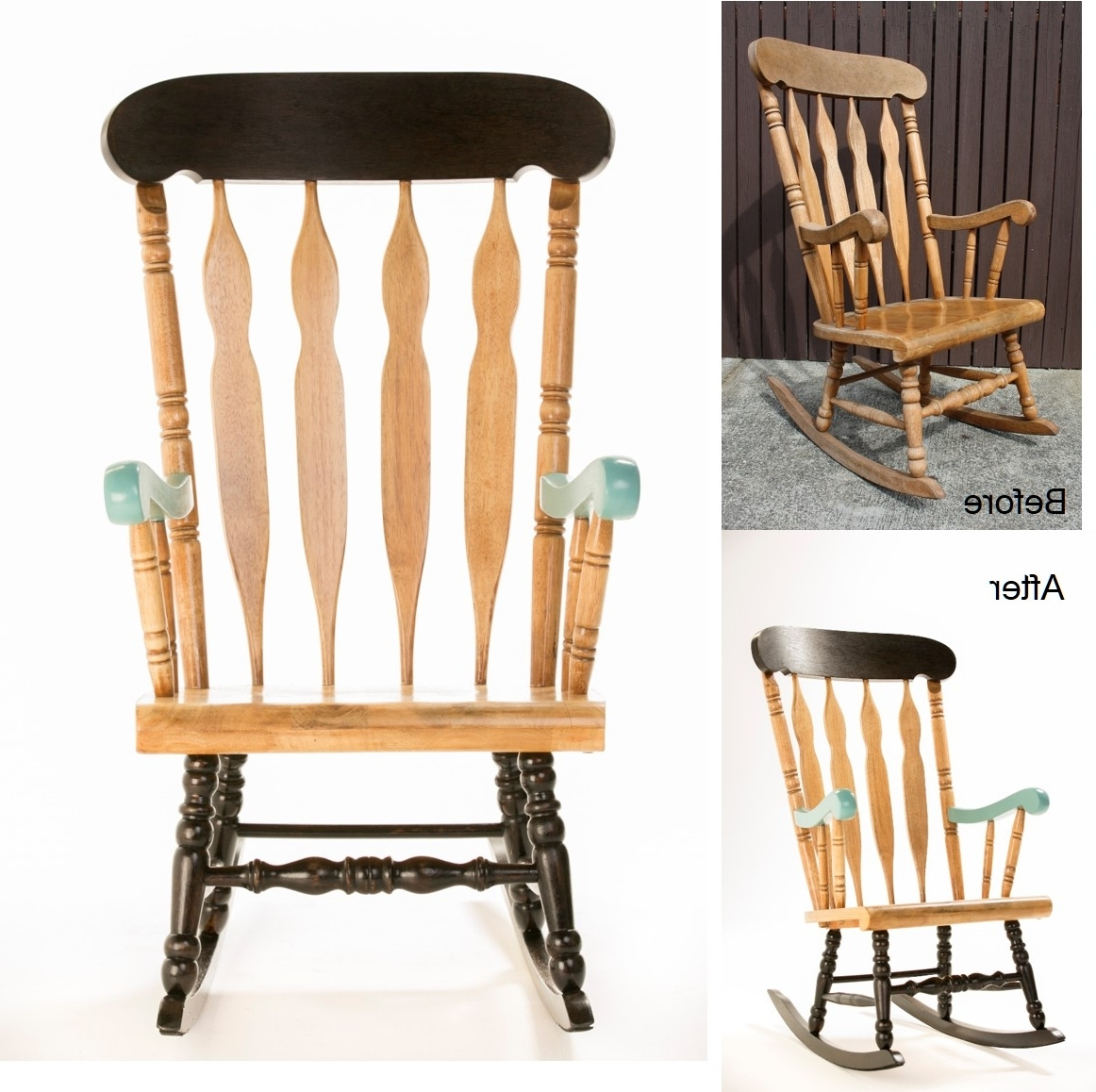 Popular How To: Upcycle A Timber Rocking Chair – The Interiors Addict Within Upcycled Rocking Chairs (View 9 of 15)