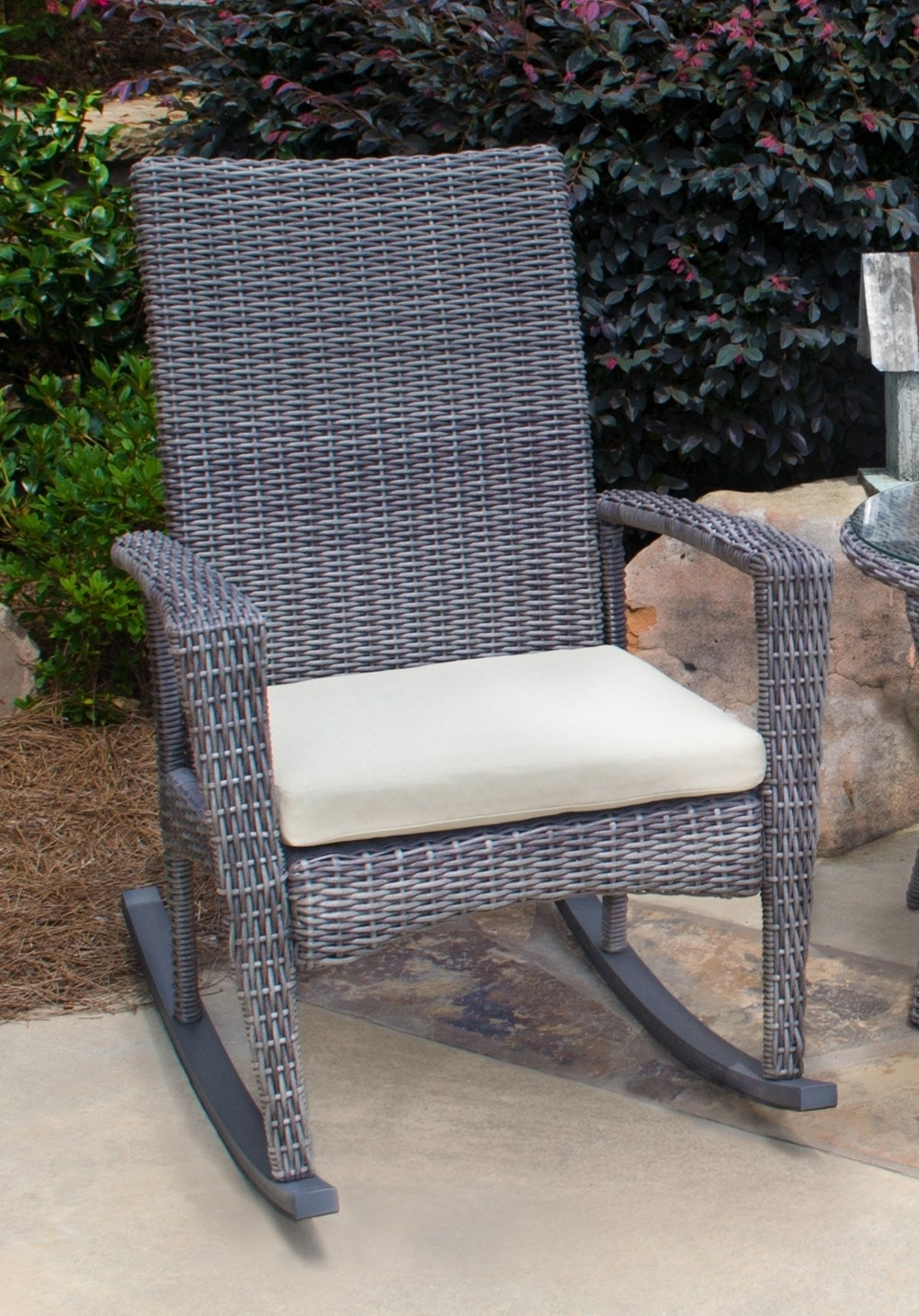 Popular Inexpensive Patio Rocking Chairs Inside Outdoor : Outdoor Bistro Cushions Patio Rocker Cushions Rocking (View 12 of 15)
