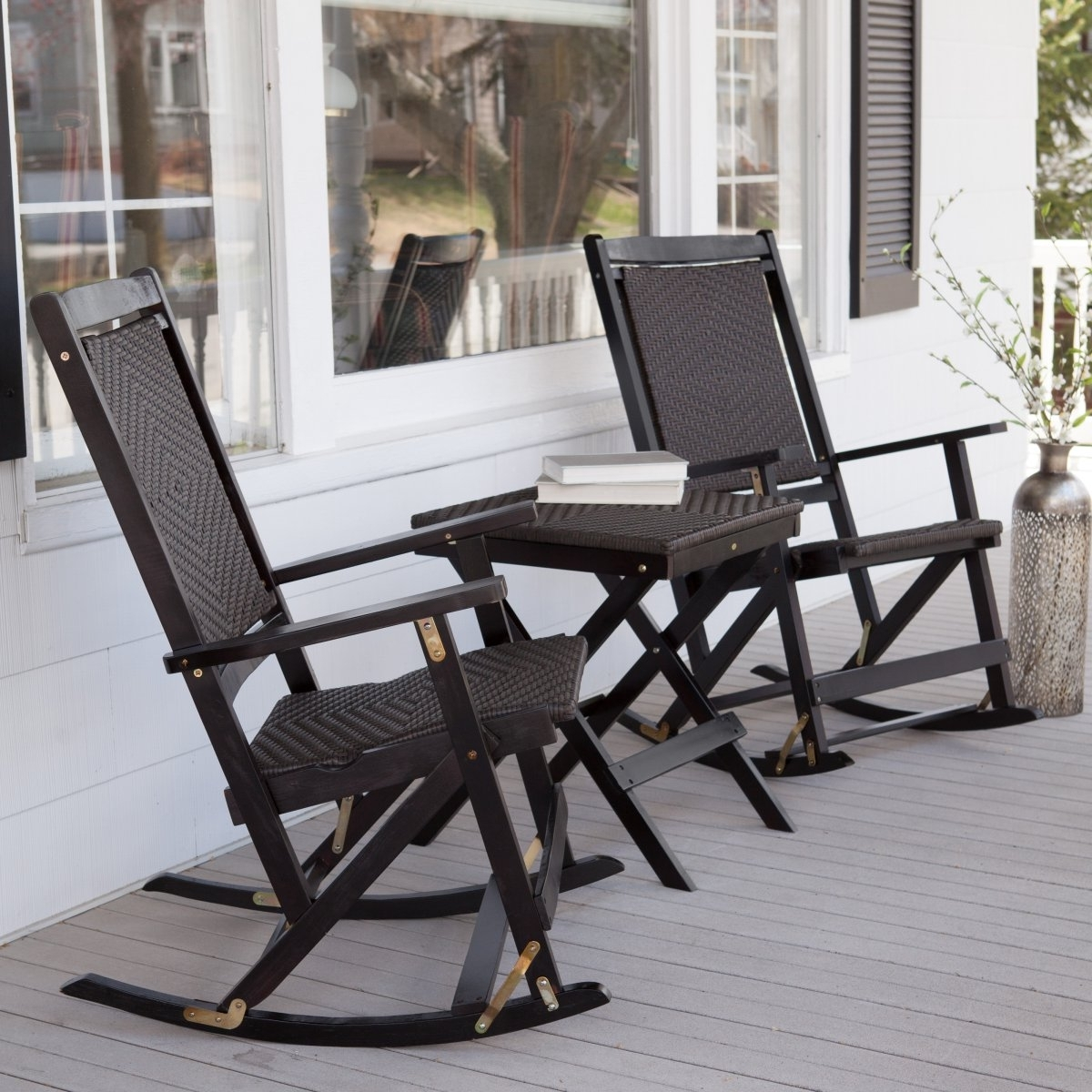 Popular Outdoor Fascinating Rocking Chairs For Front Porch Outdoors White Inside Outdoor Patio Rocking Chairs (View 9 of 15)