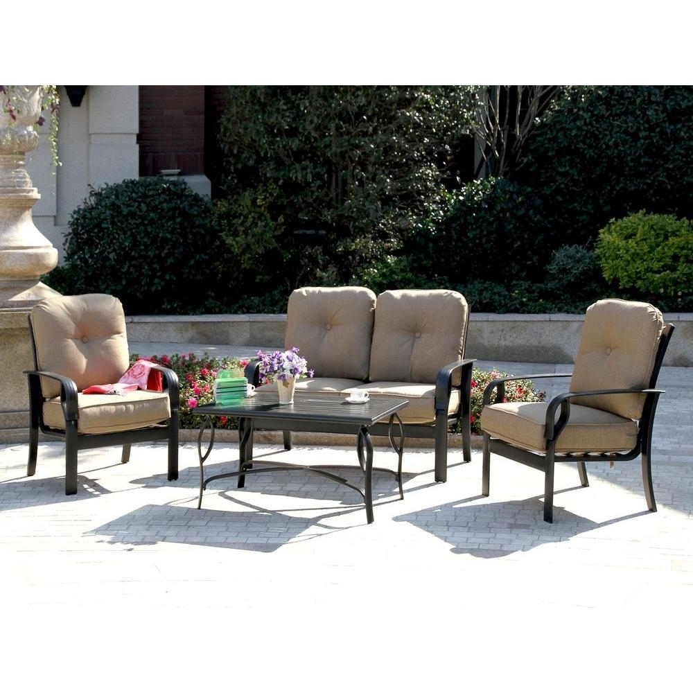 Popular Patio Conversation Sets With Sunbrella Cushions Throughout Patio Set With Sunbrella Cushions – Patio Designs (View 12 of 15)